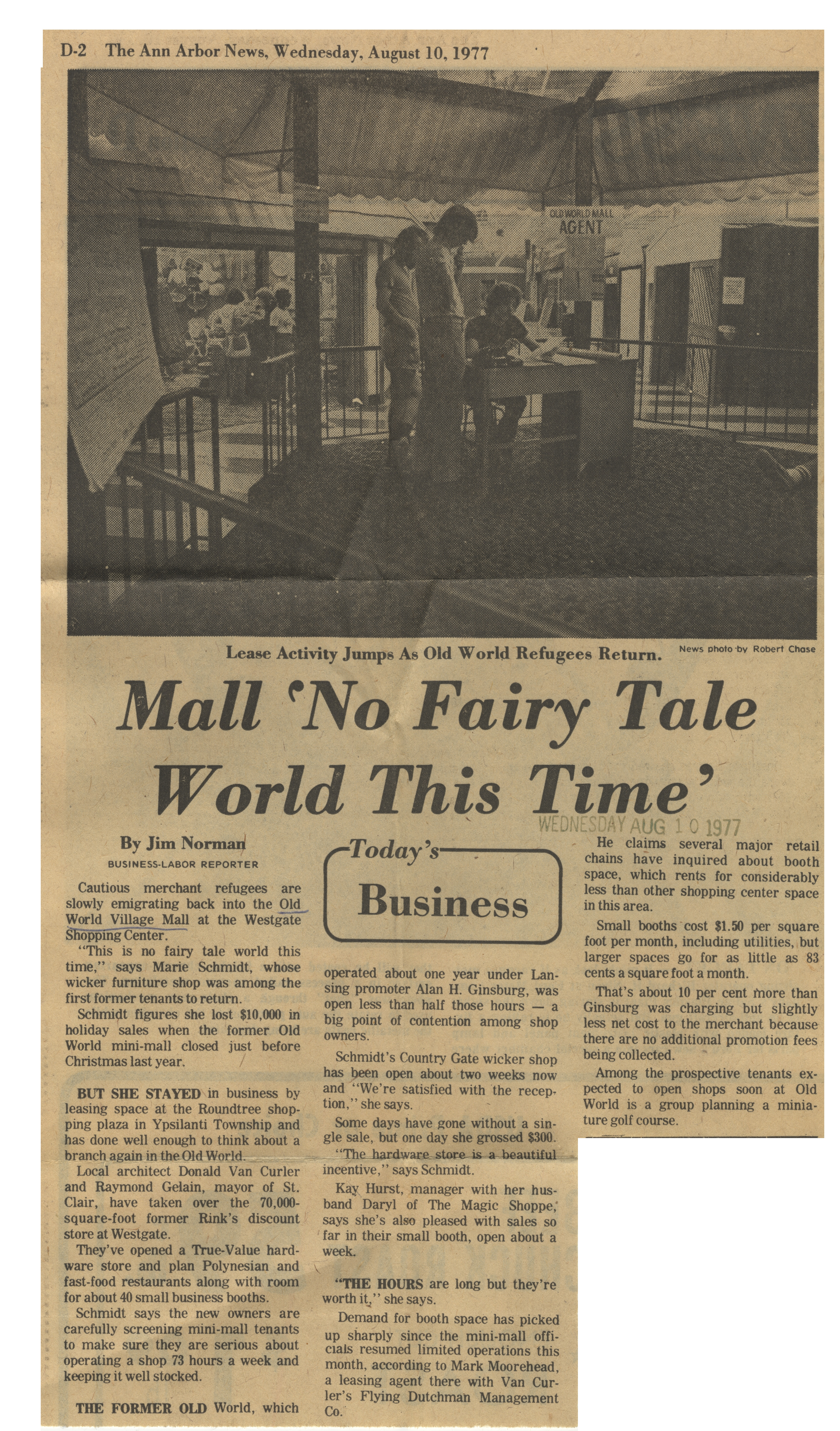 Mall 'No Fairy Tale World This Time' image