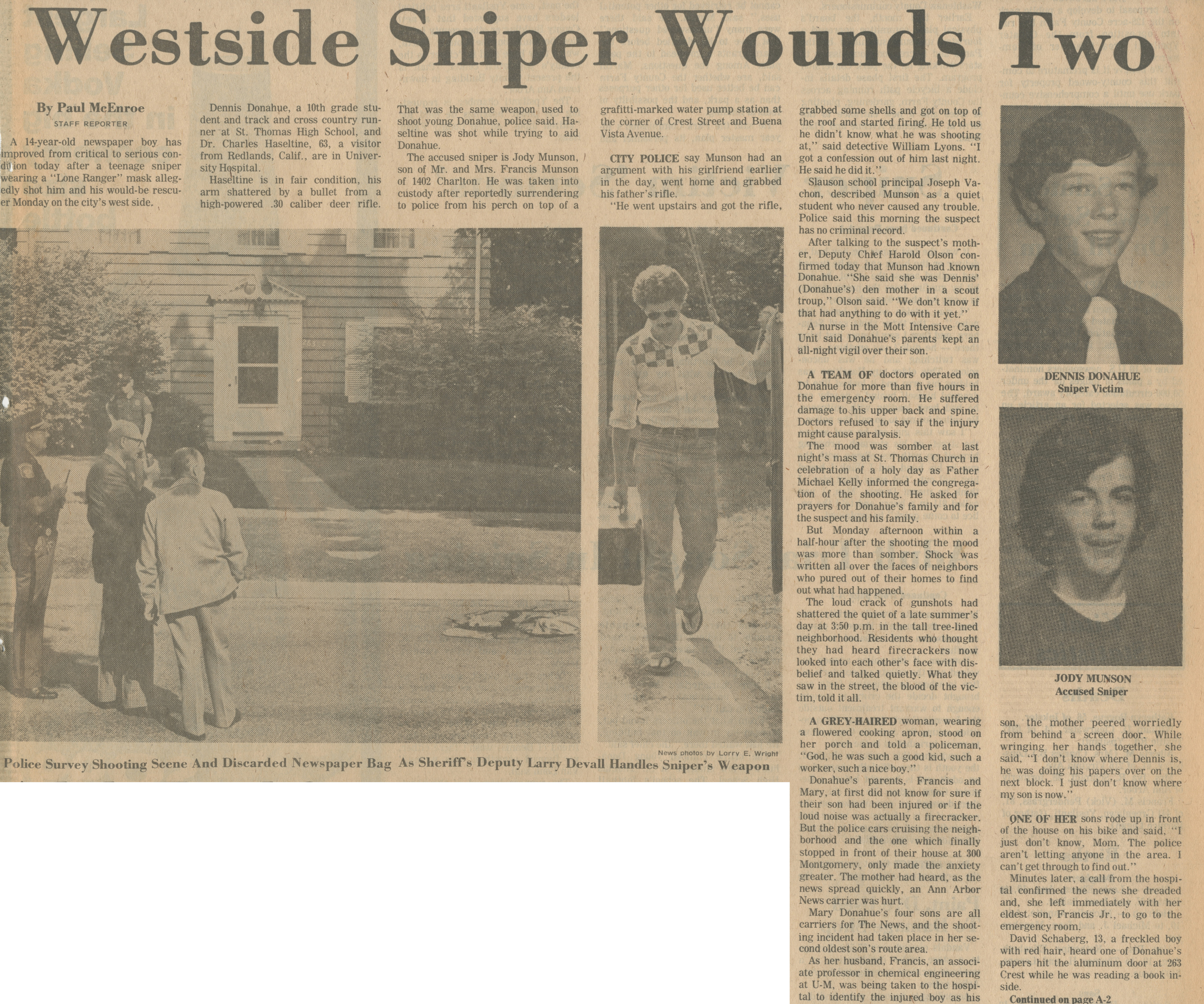 Westside Sniper Wounds Two image