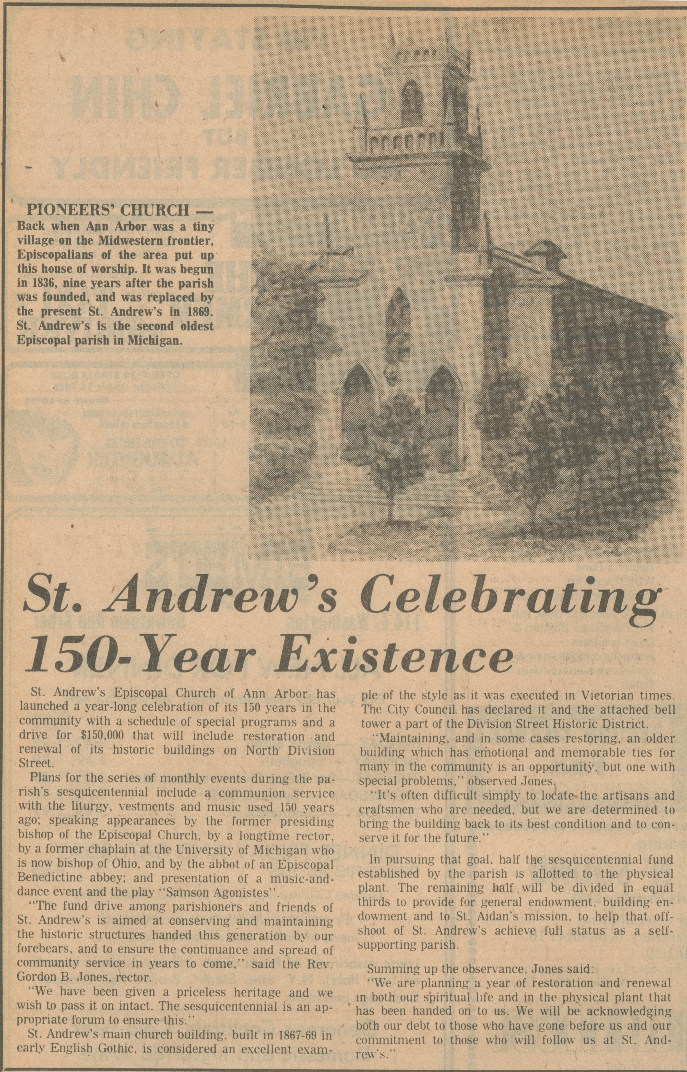 St. Andrew's Celebrating 150-Year Existence image