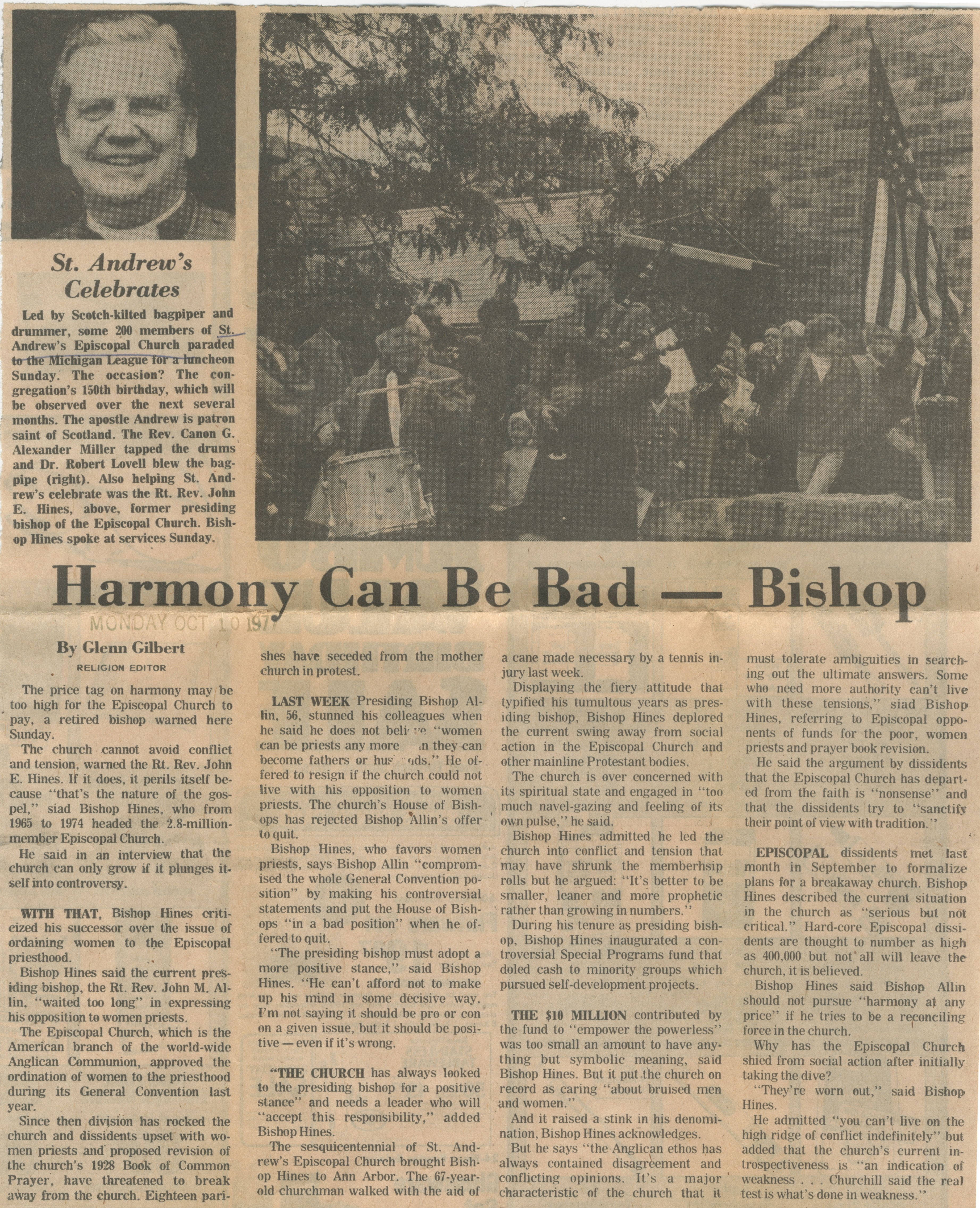 Harmony Can Be Bad -- Bishop image