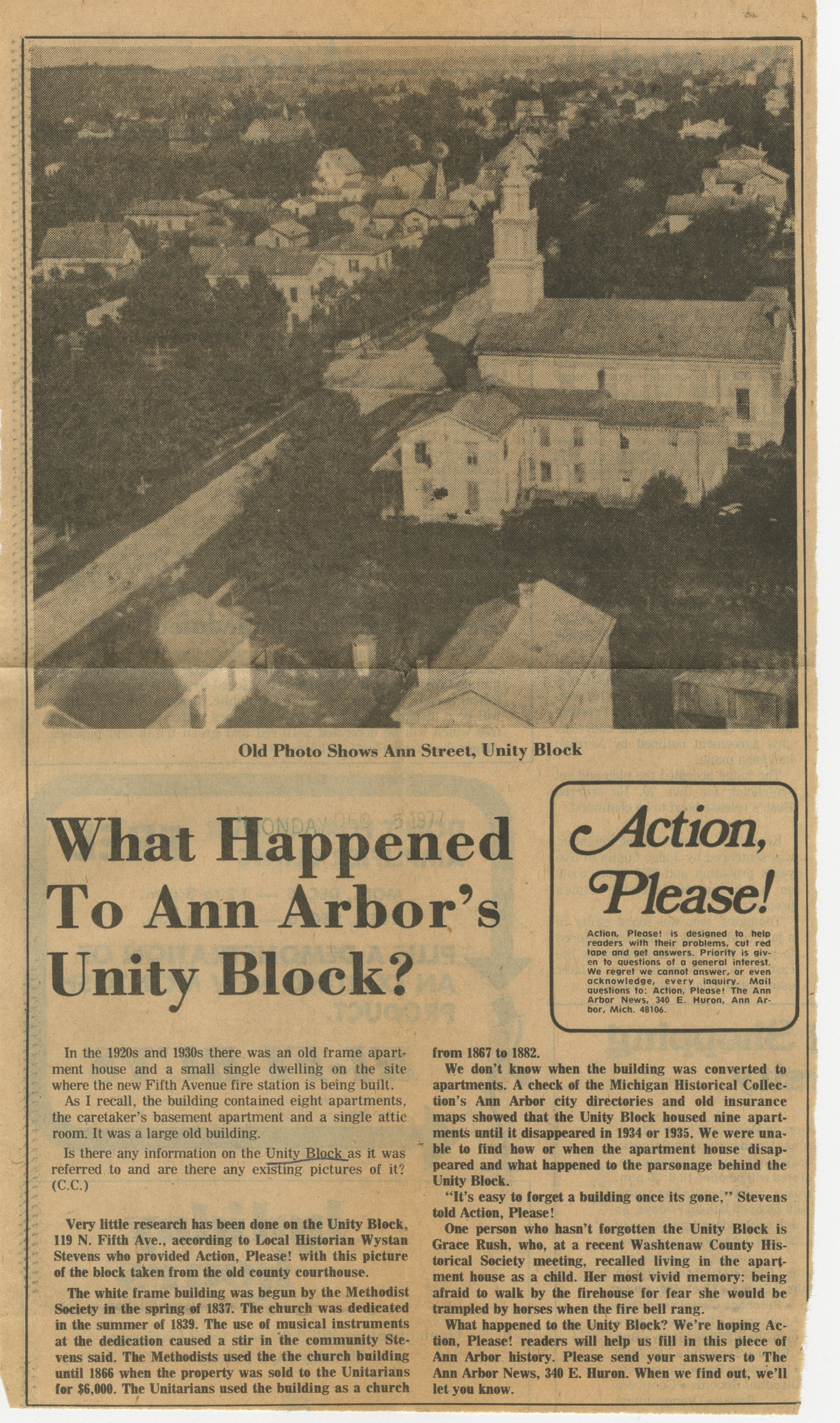 What Happened To Ann Arbor's Unity Block? image