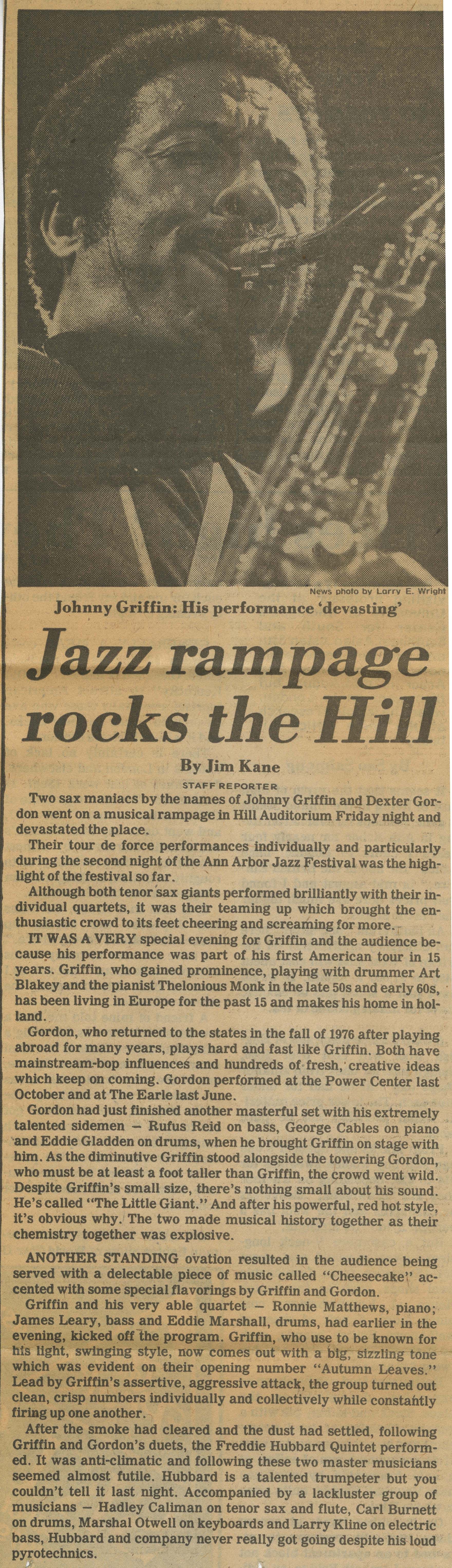 Jazz rampage rocks the Hill image