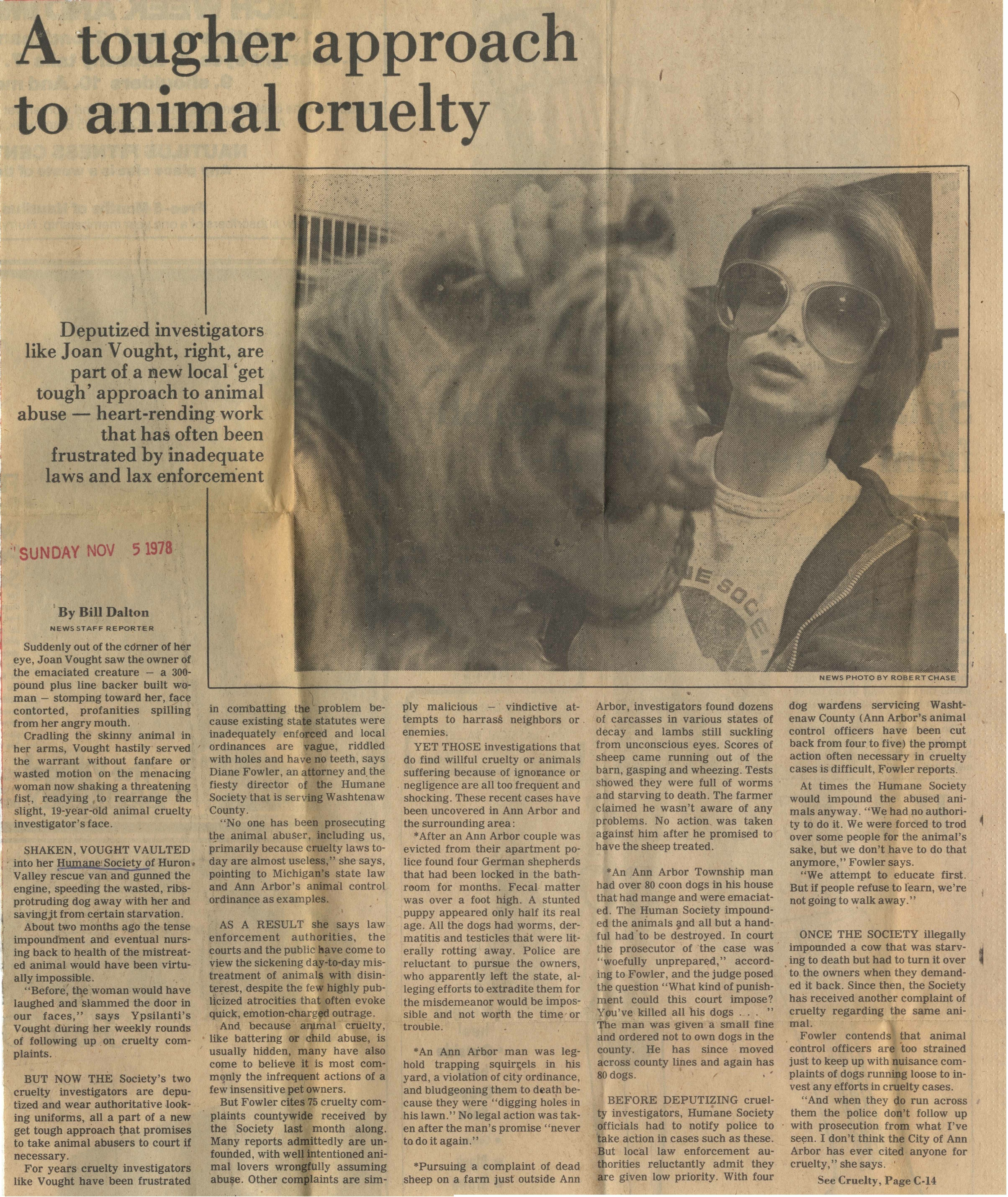 A Tougher Approach To Animal Cruelty image