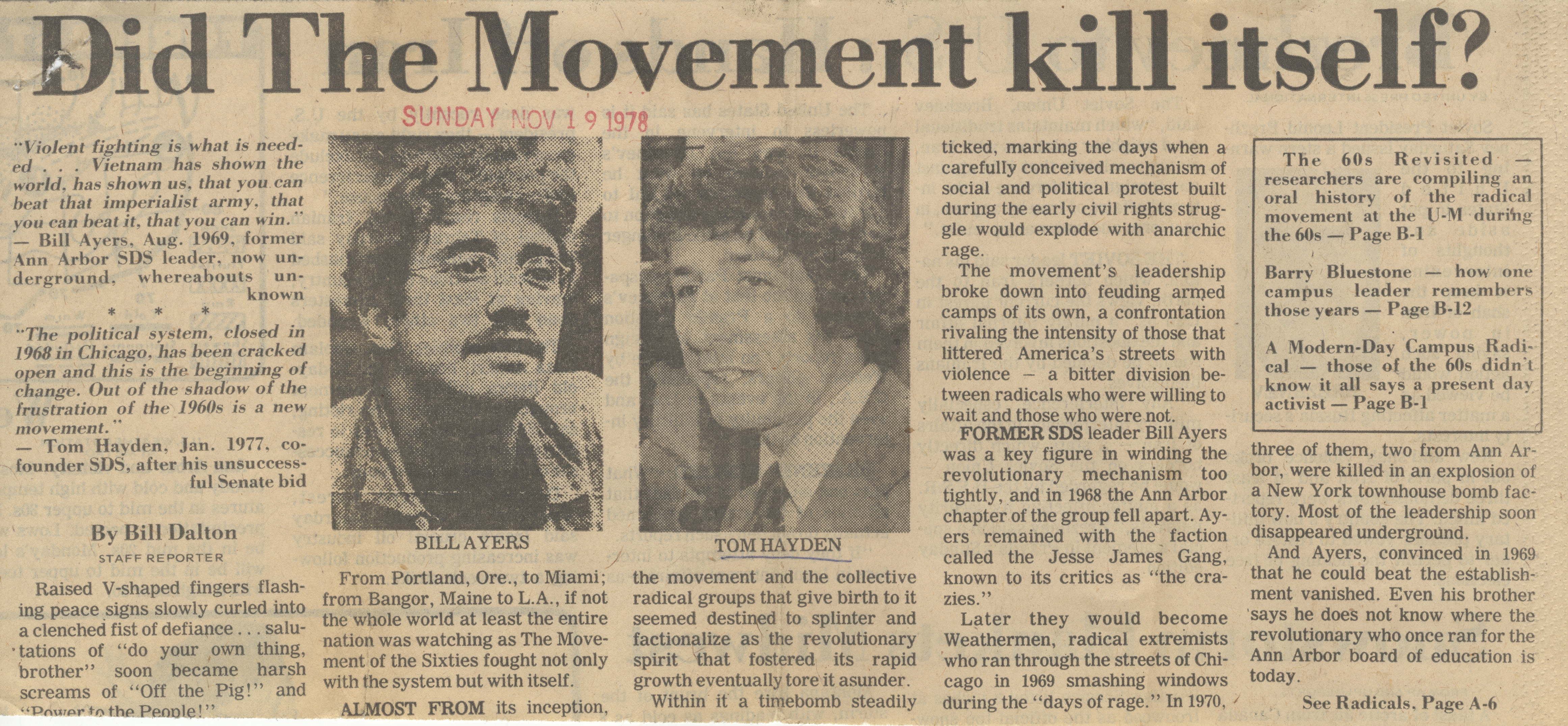 Did the Movement Kill Itself? image
