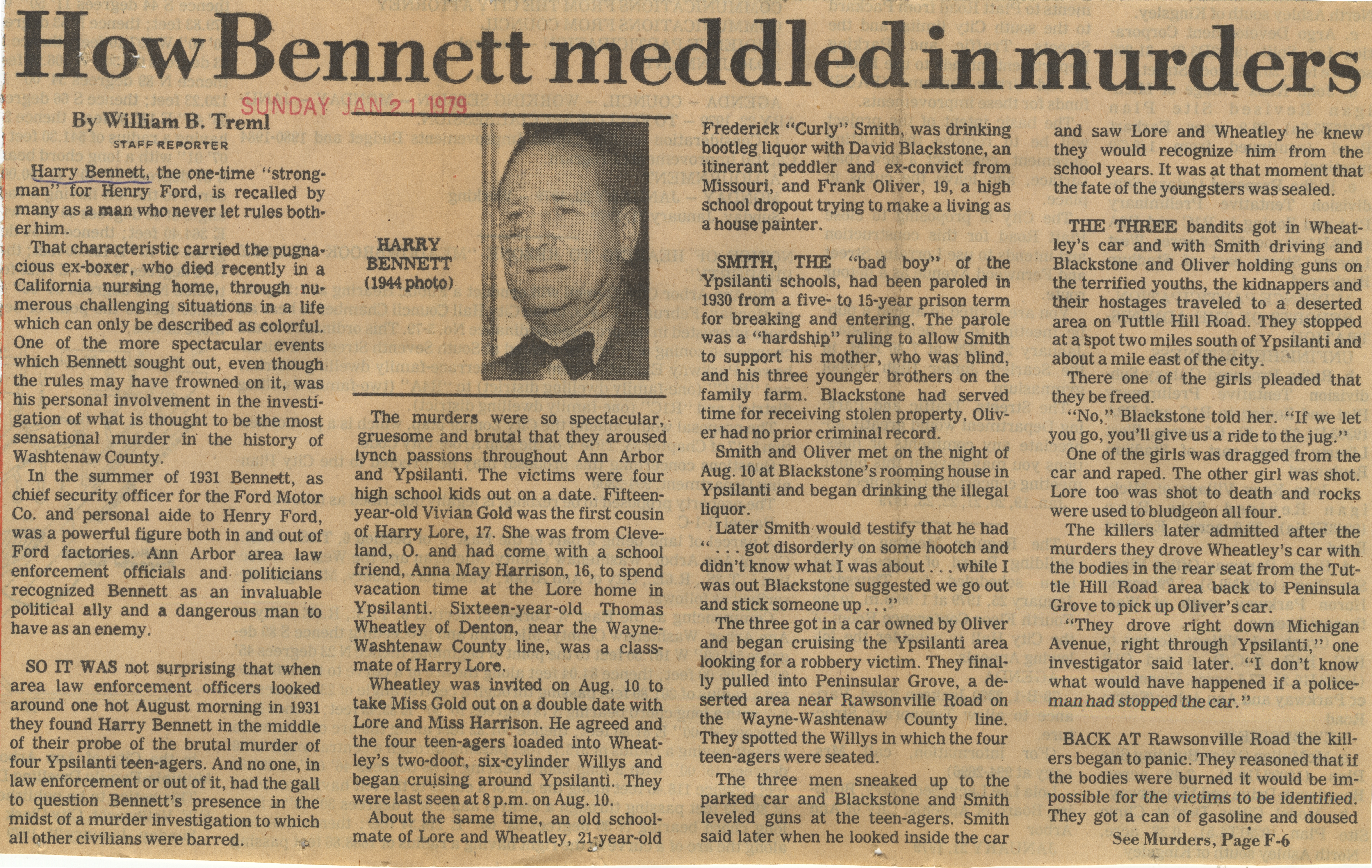 How Bennett Meddled in Murders image