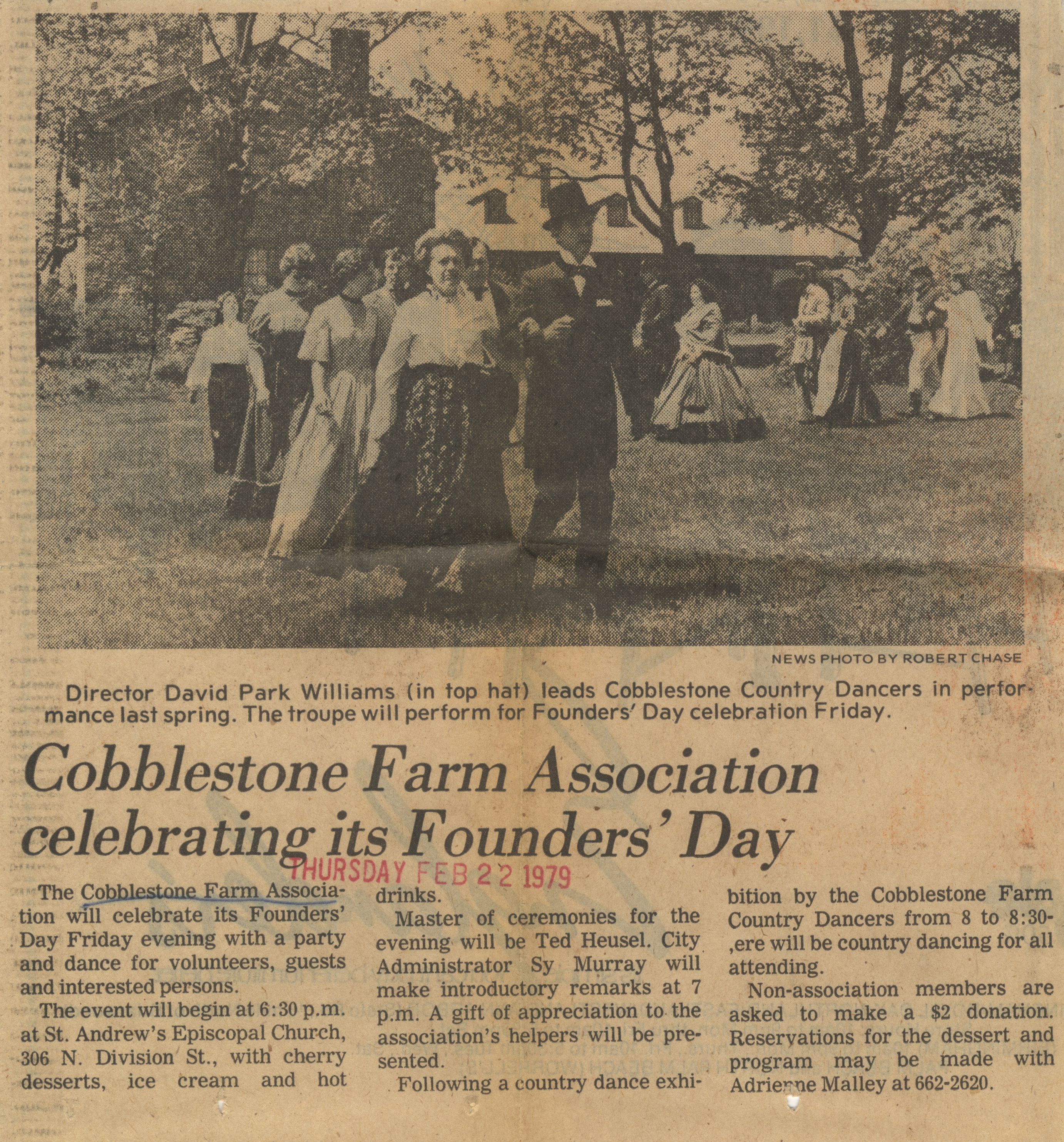 Cobblestone Farm Association Celebrating Its Founders' Day image