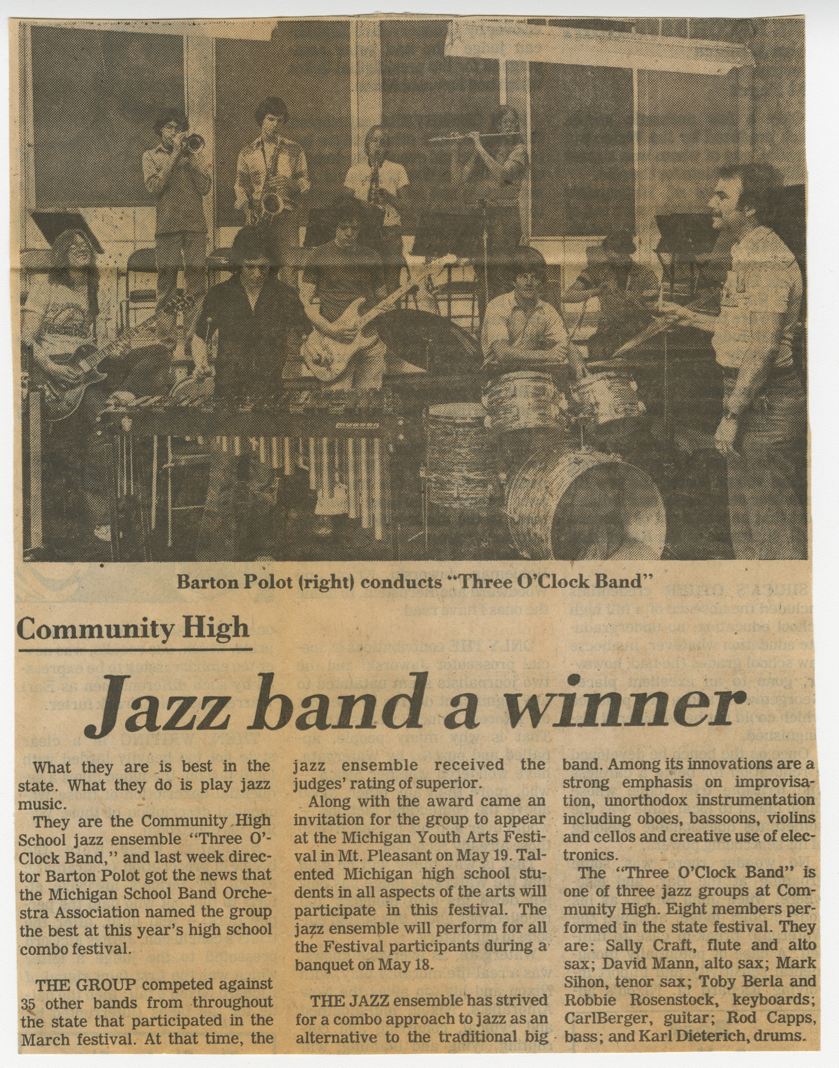 Community High Jazz band a winner image