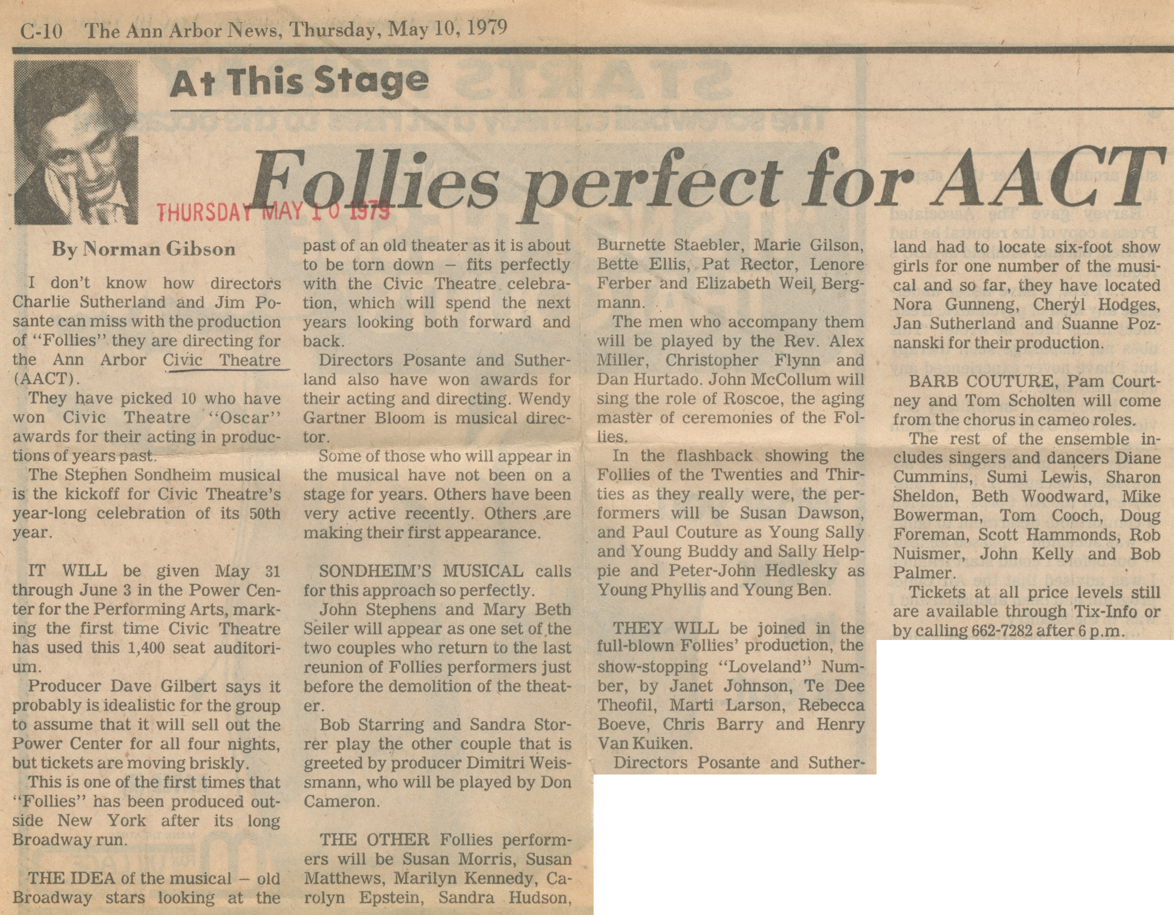 Follies Perfect For AACT image