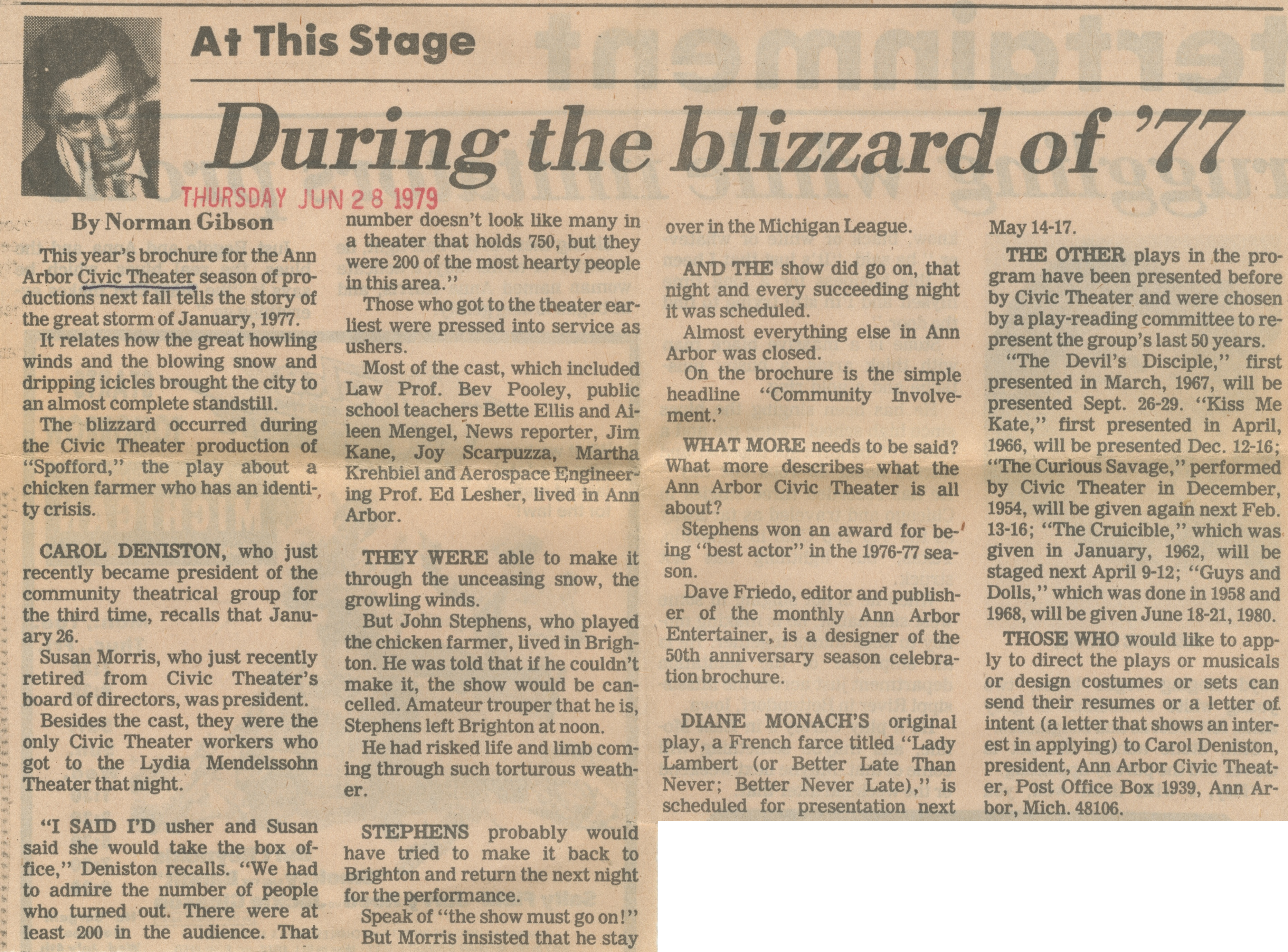 During The Blizzard Of '77 image