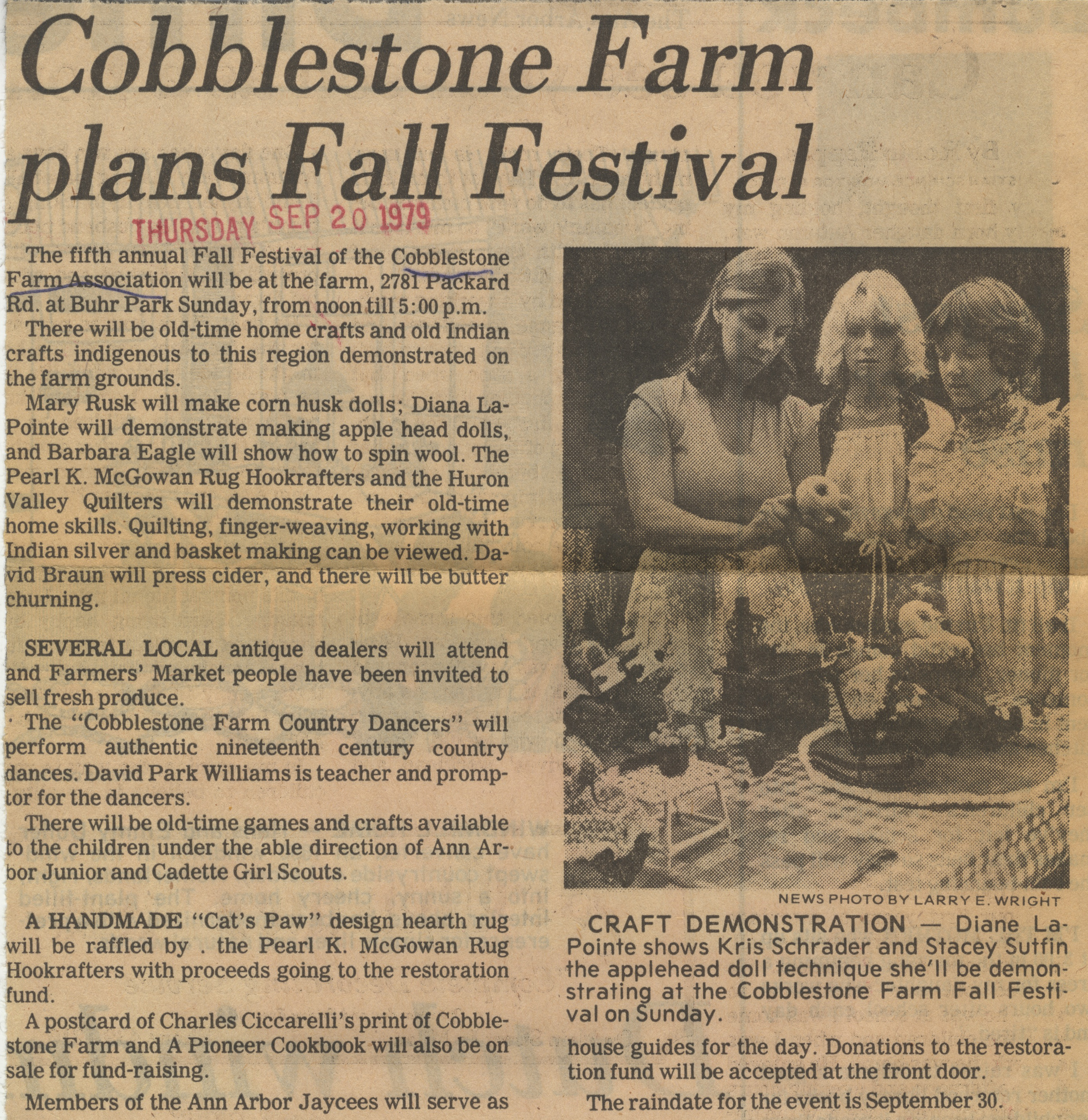 Cobblestone Farm Plans Fall Festival image