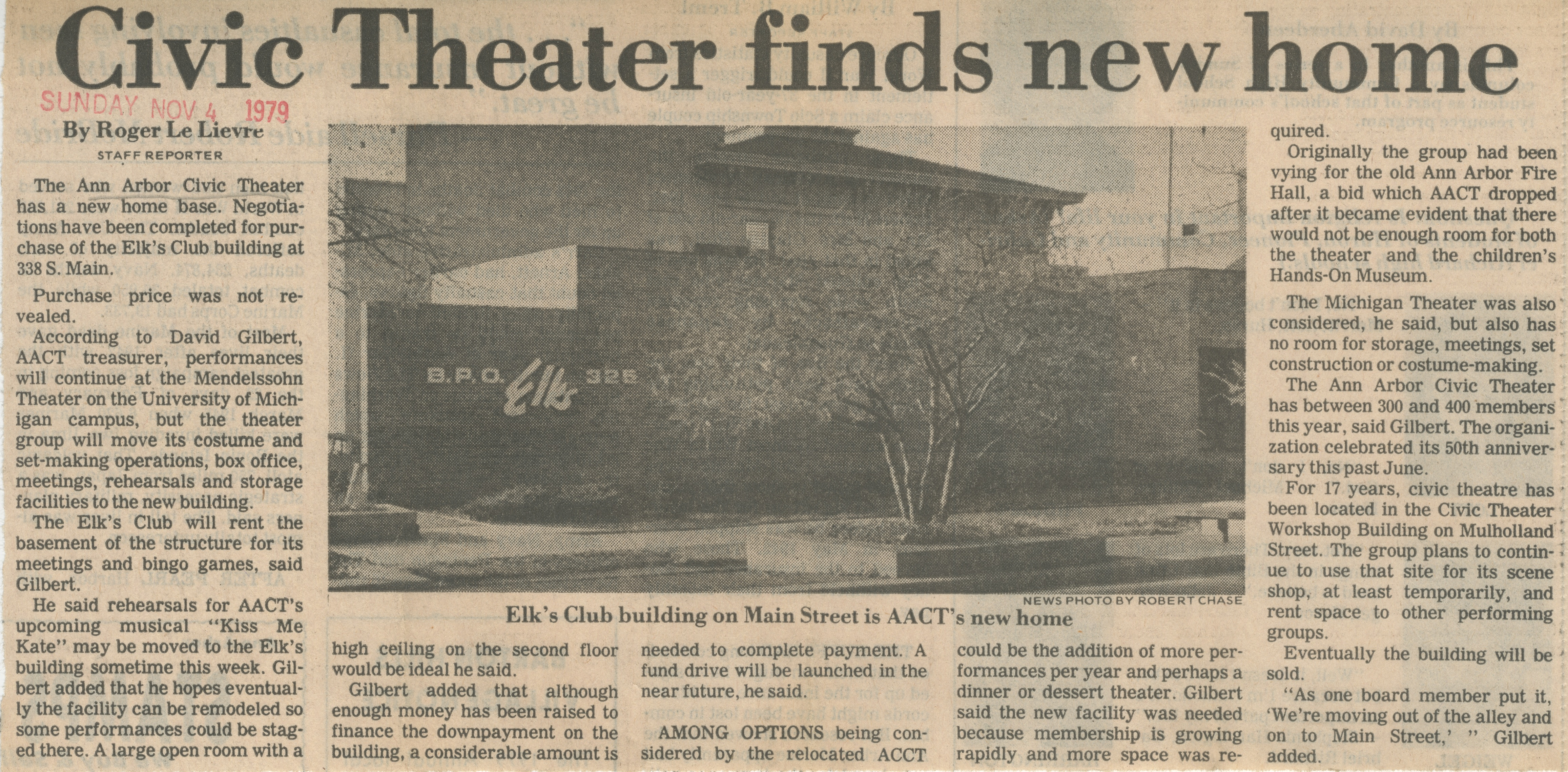 Civic Theater Finds New Home image