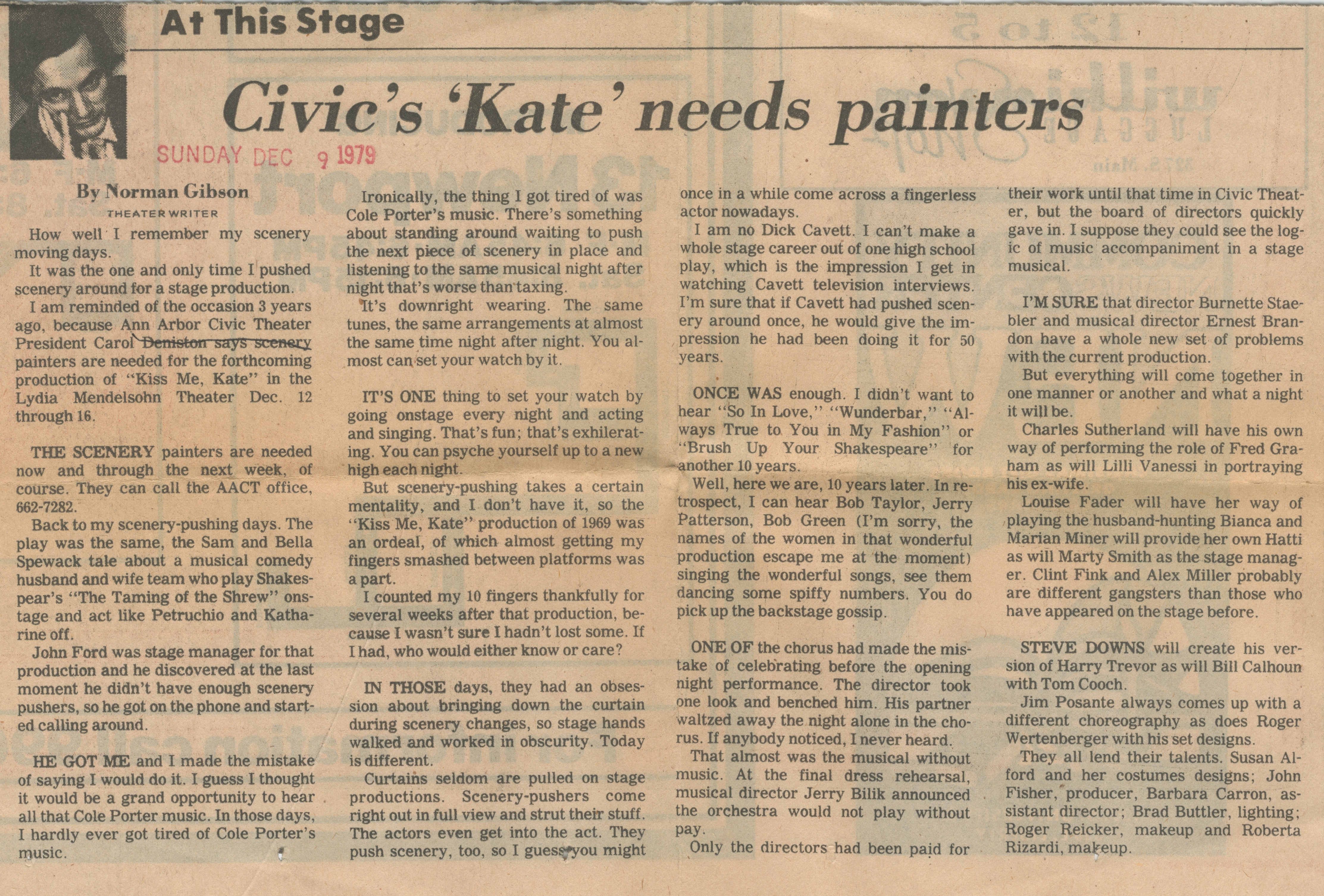 Civic's 'Kate' Needs Painters image