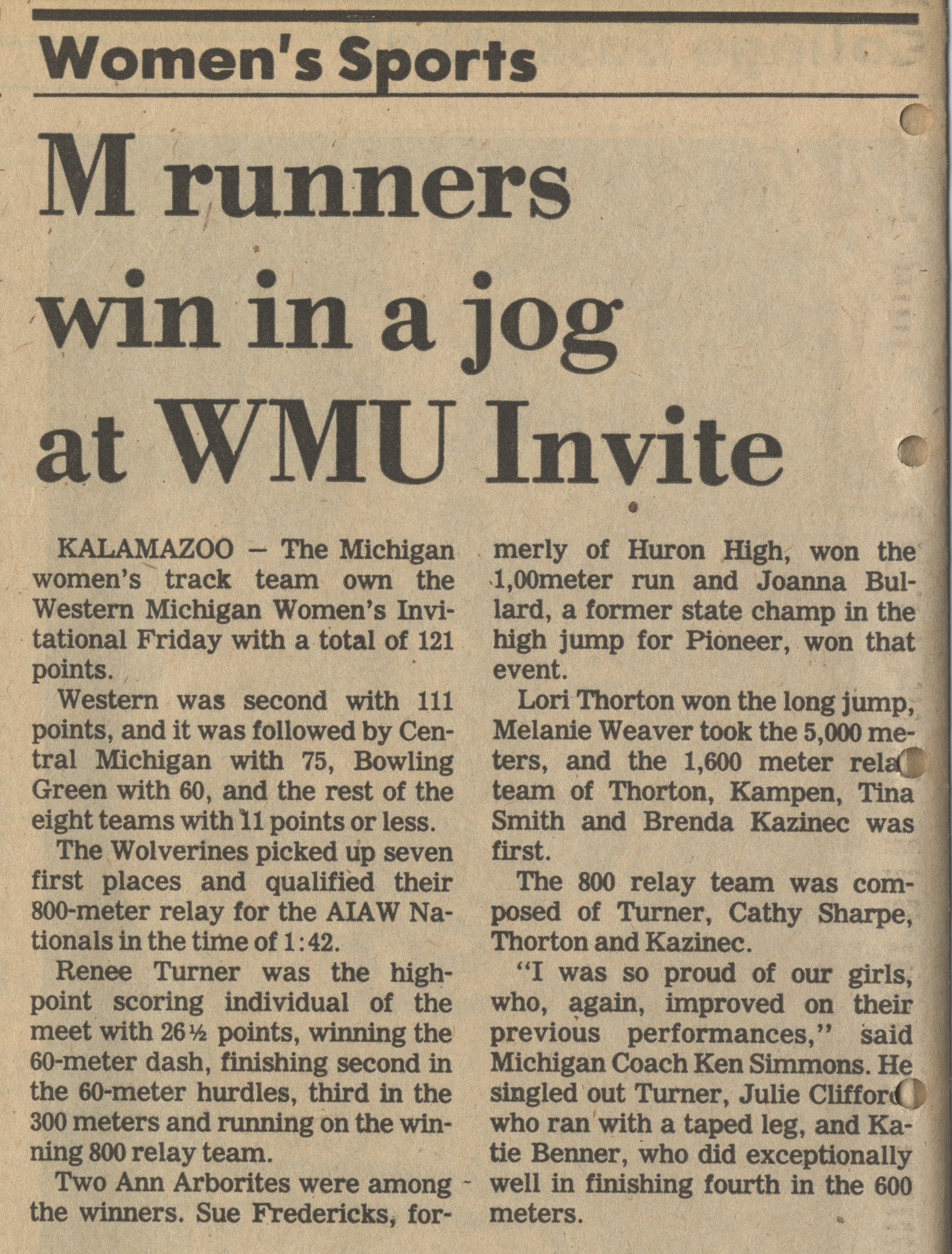 M Runners Win In A Jog At WMU Invite image