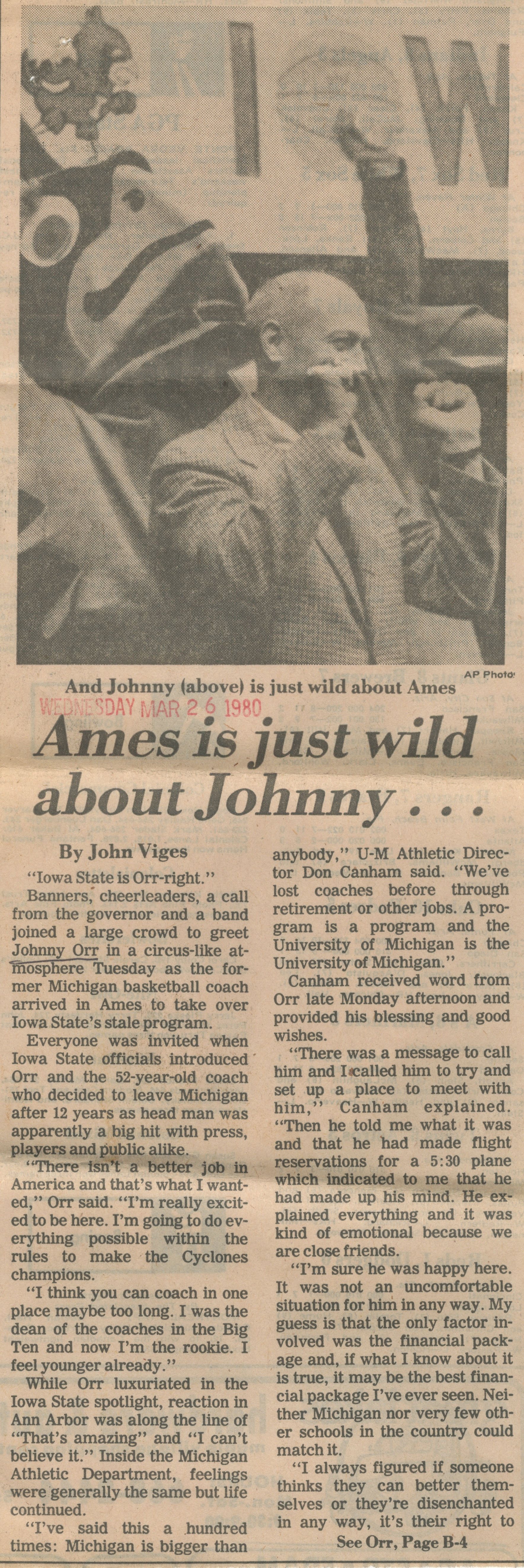 Ames Is Just Wild About Johnny . . .  image