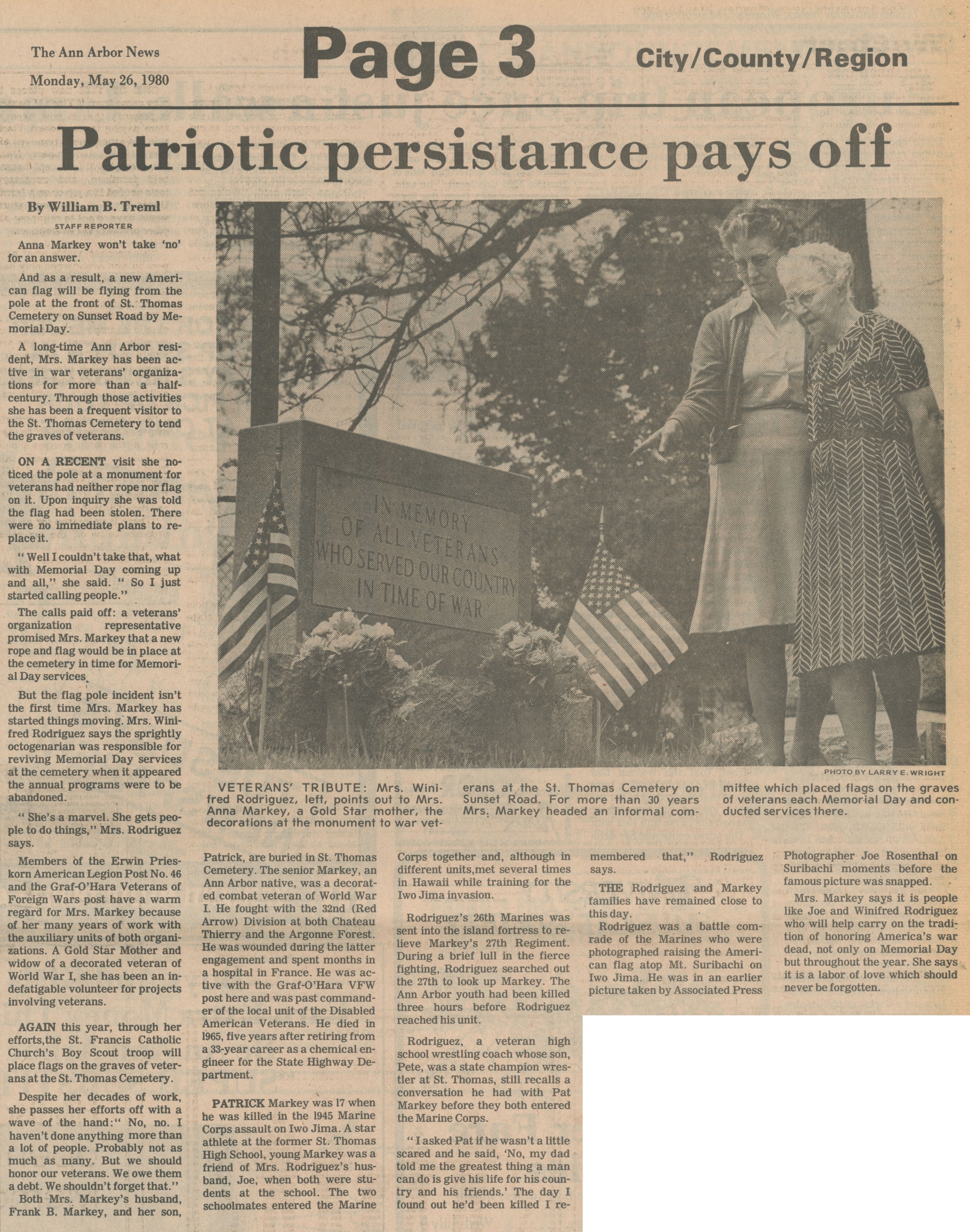 Patriotic persistance pays off image