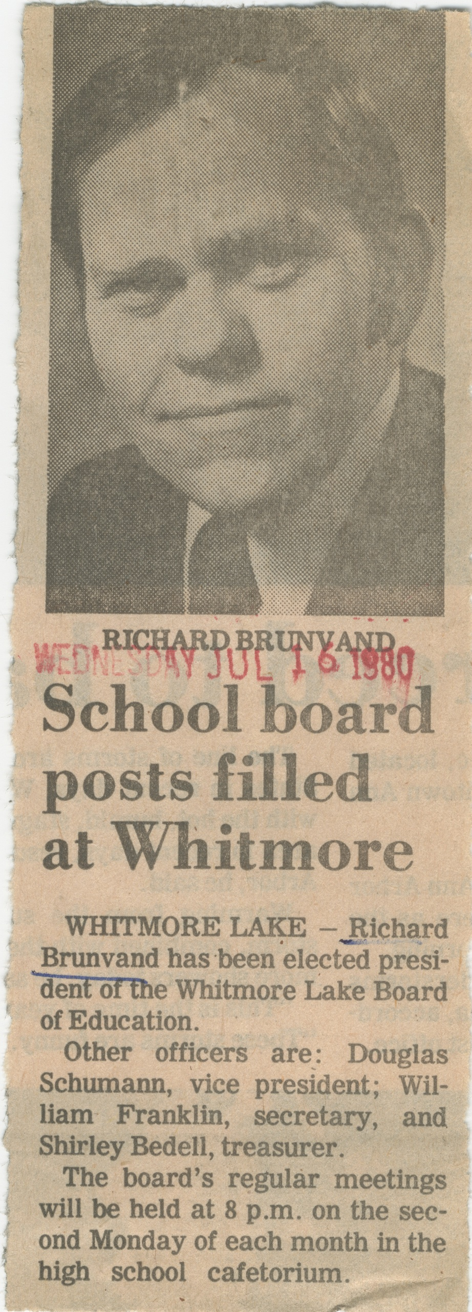 School Board Posts Filled At Whitmore image
