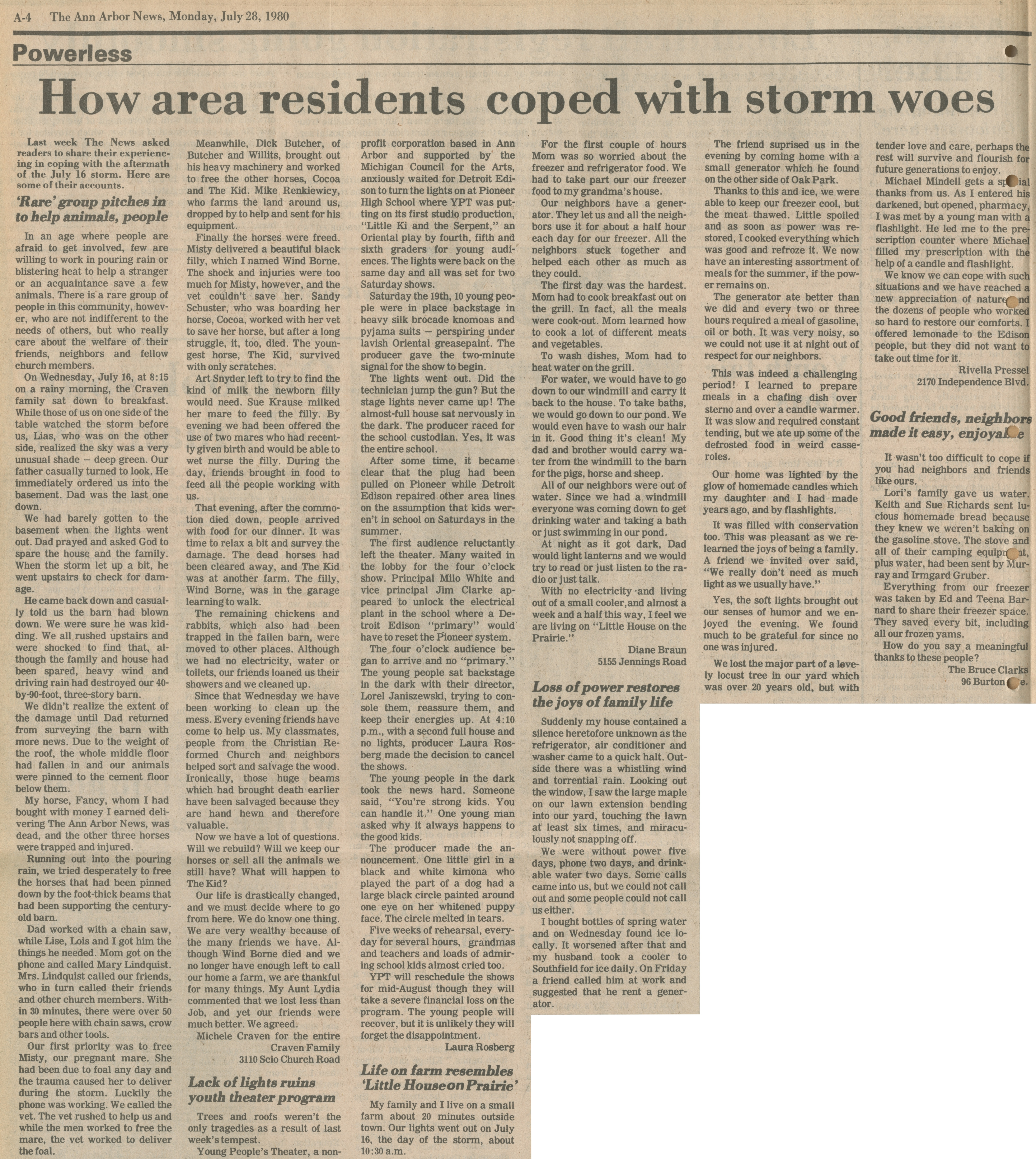How area residents coped with storm woes image