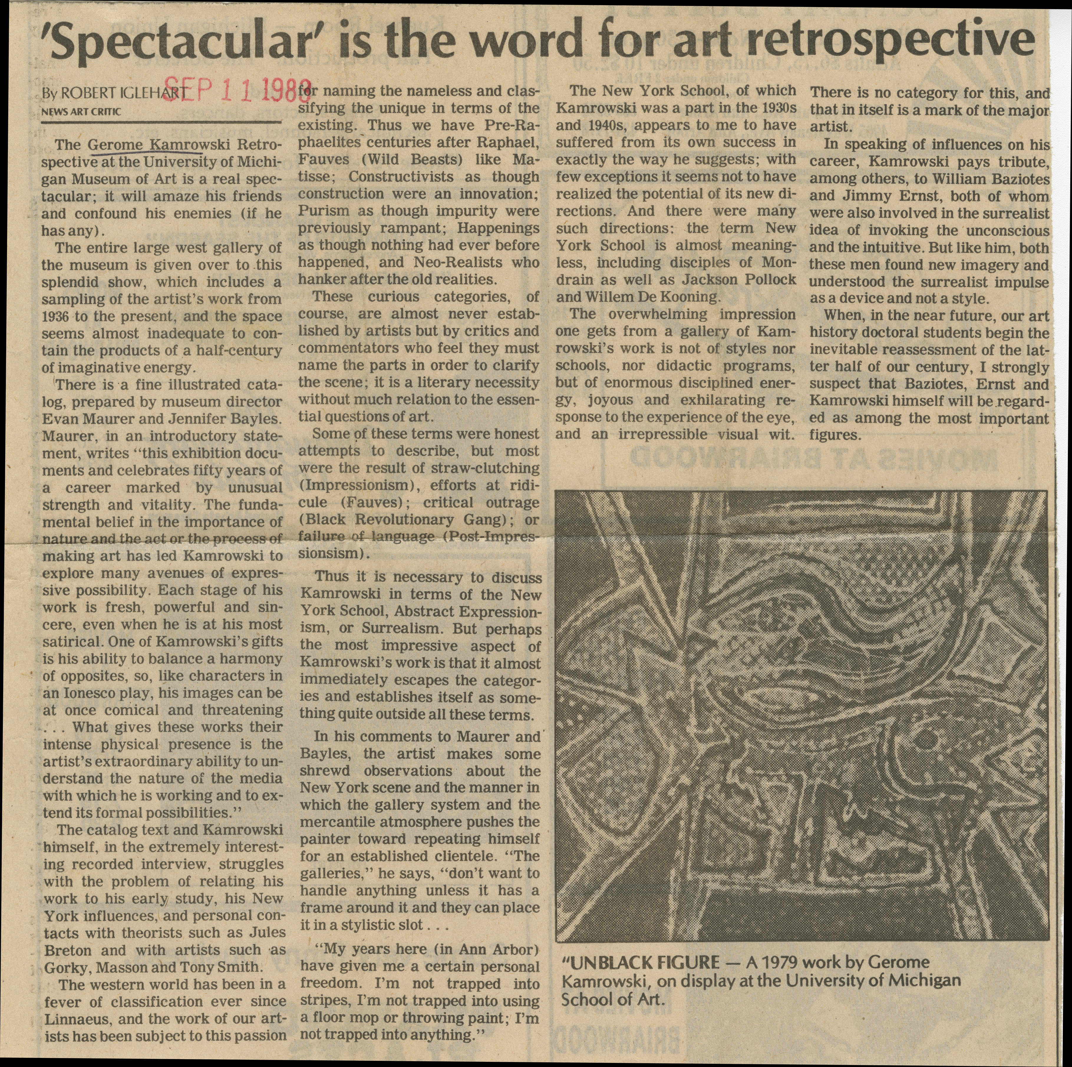 'Spectacular' is the word for art retrospective image