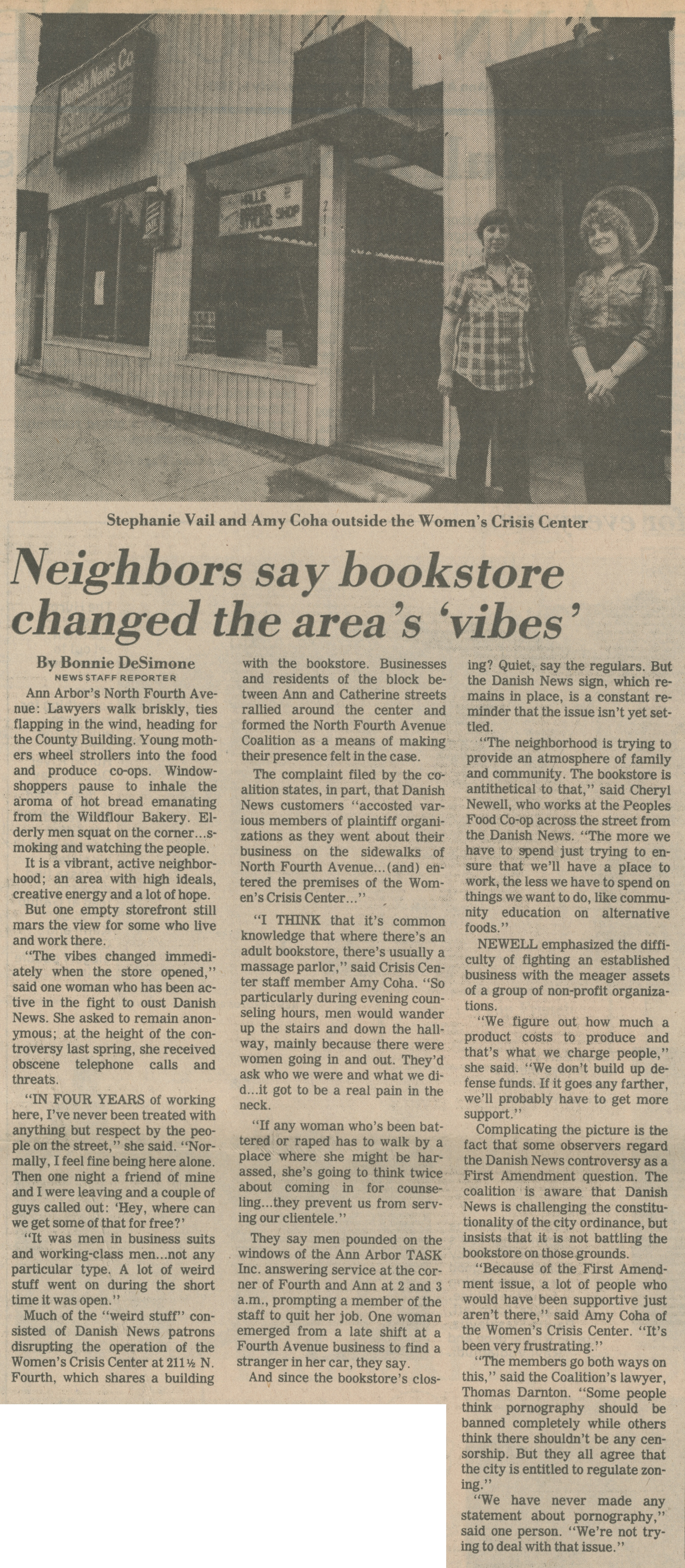 Neighbors say bookstore changed the area's 'vibes' image