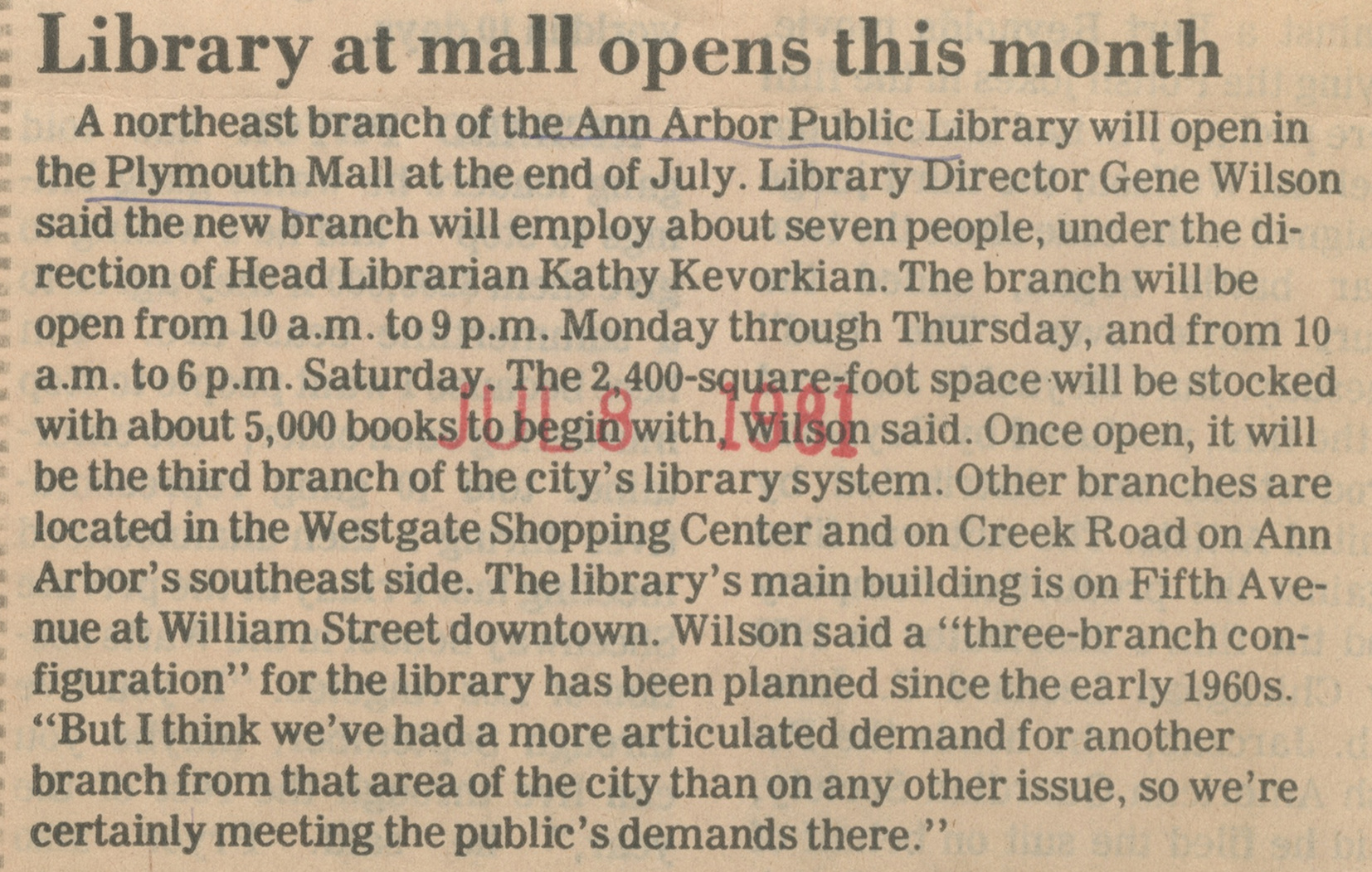 Library At Mall Opens This Month image