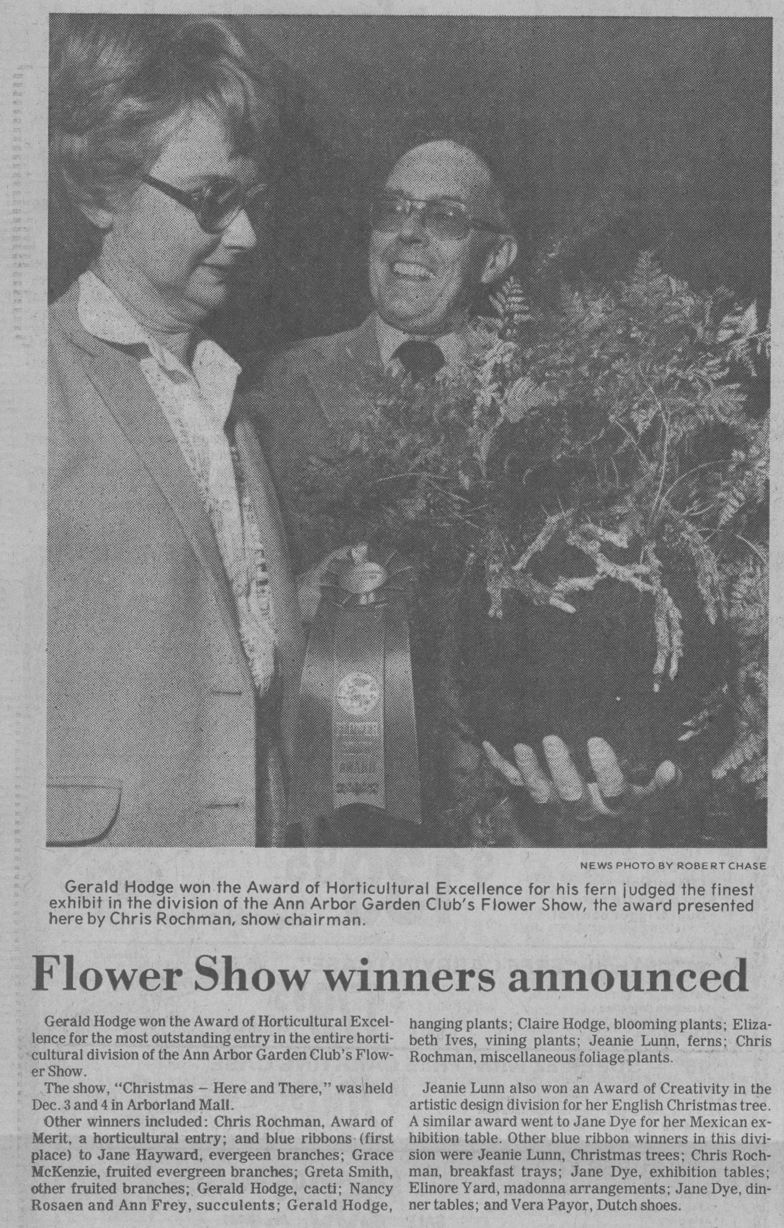 Flower Show Winners Announced image