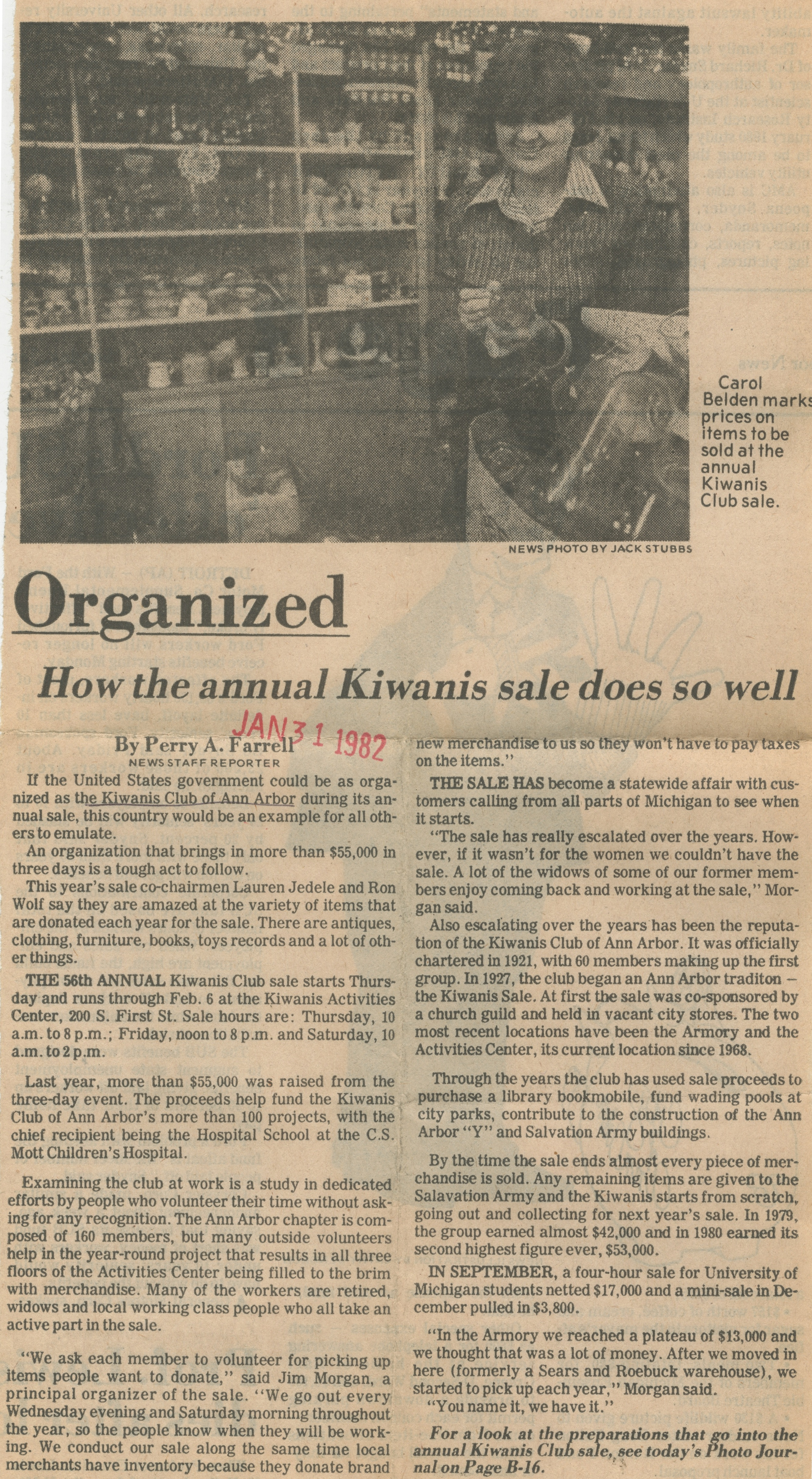 Organized ~ How The Annual Kiwanis Sale Does So Well image