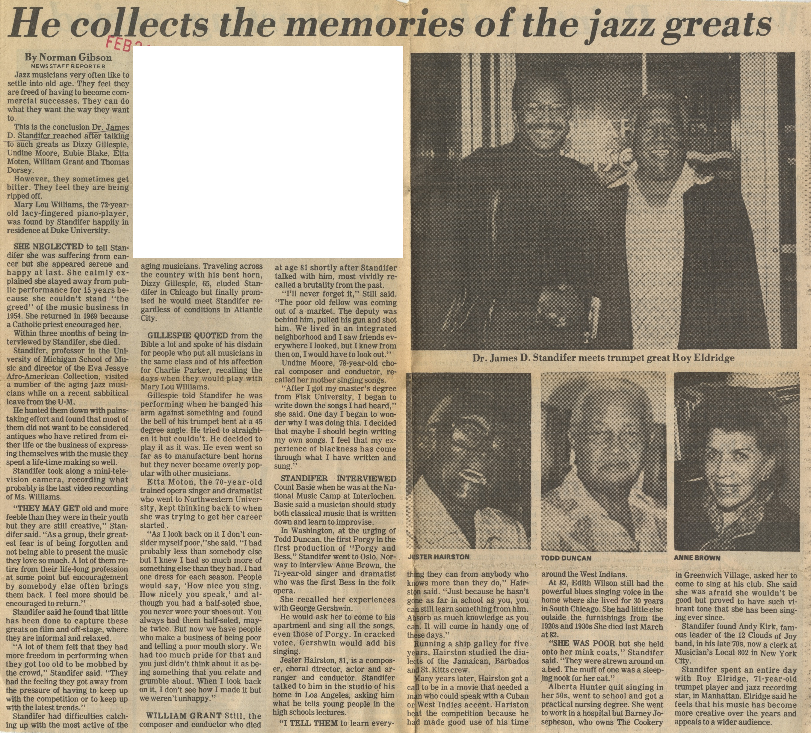 He Collects The Memories Of The Jazz Greats image