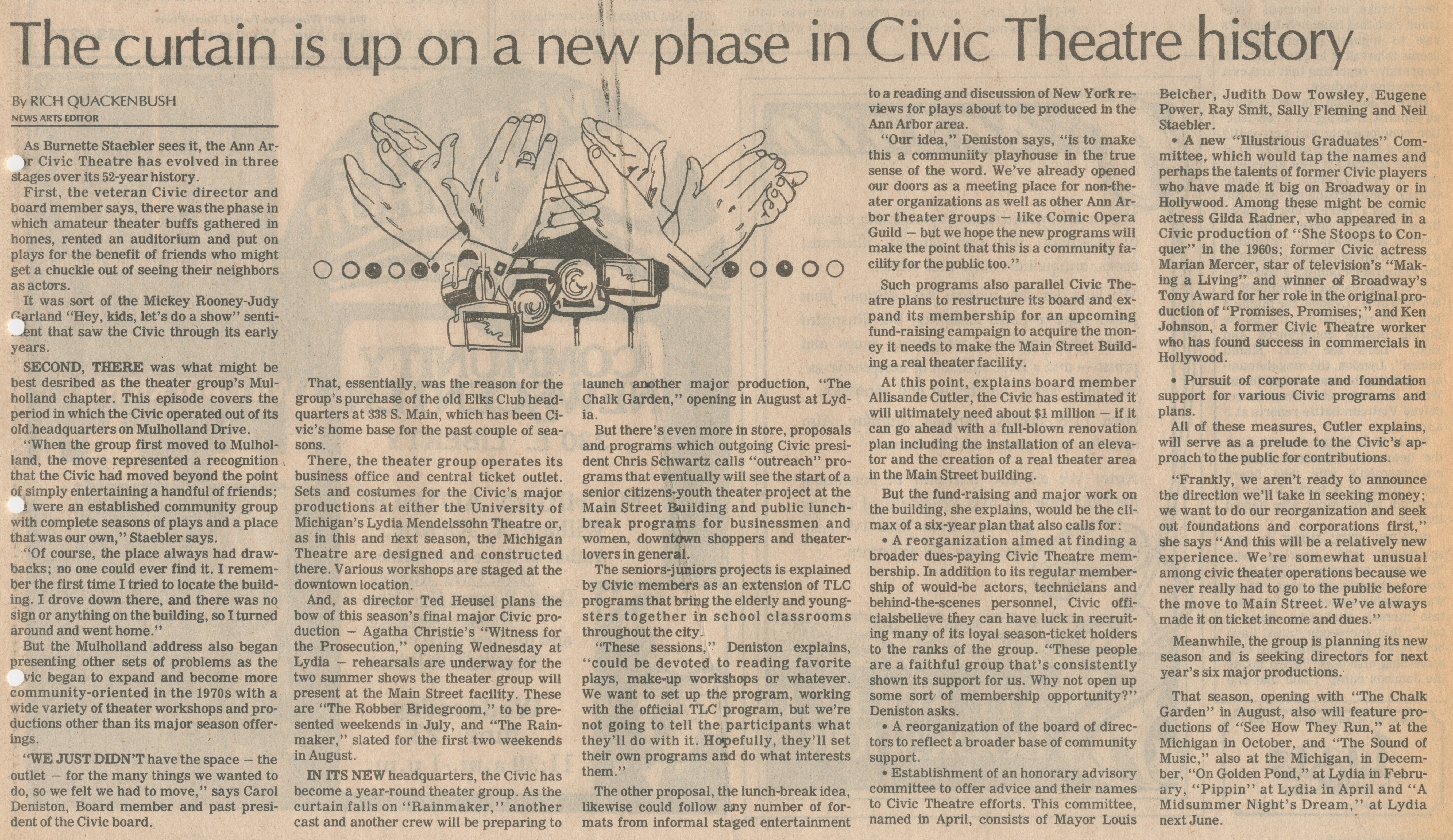The Curtain I Up On A New Phase In Civic Theatre History image