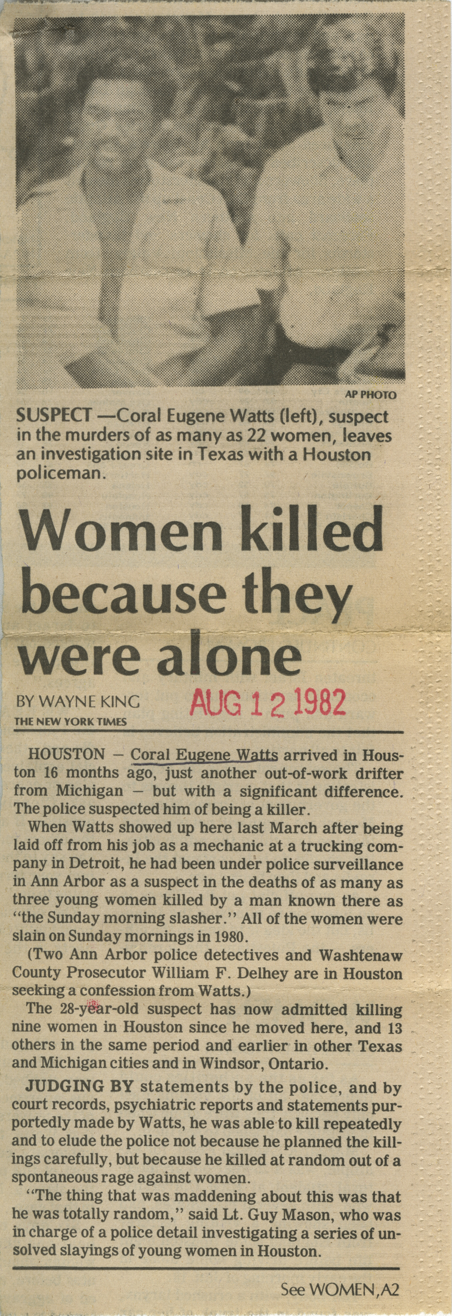 Women killed because they were alone image