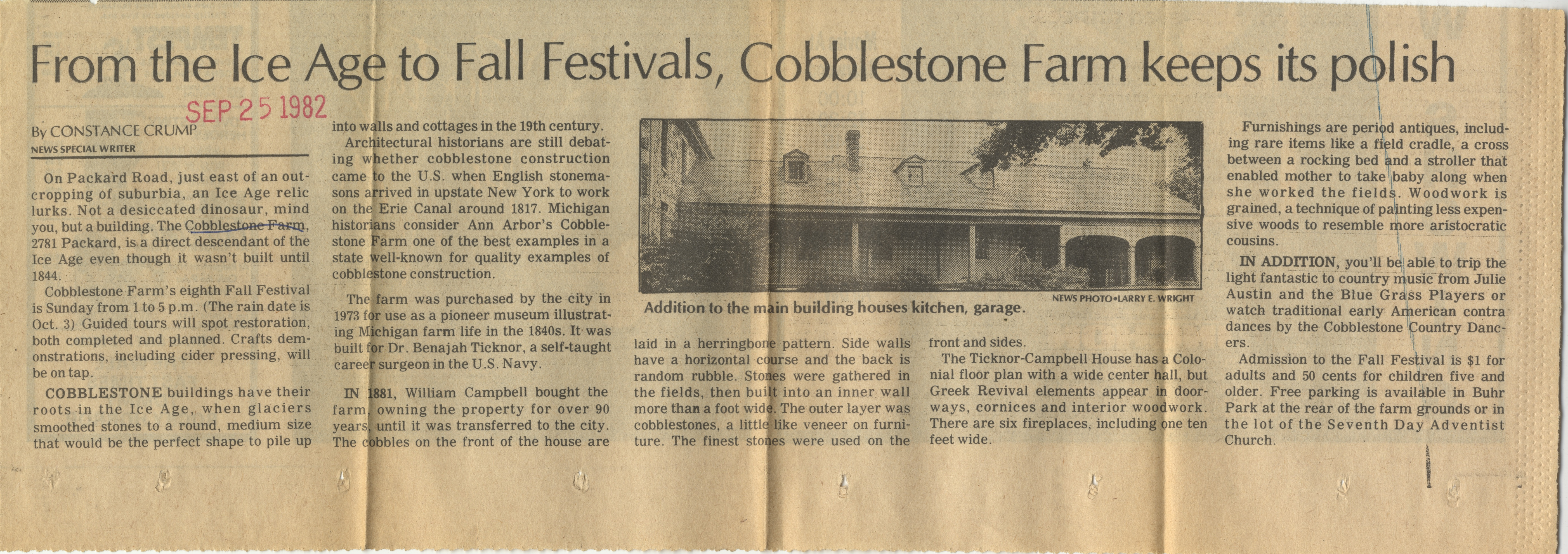From The Ice Age To Fall Festivals, Cobblestone Farm Keeps Its Polish image