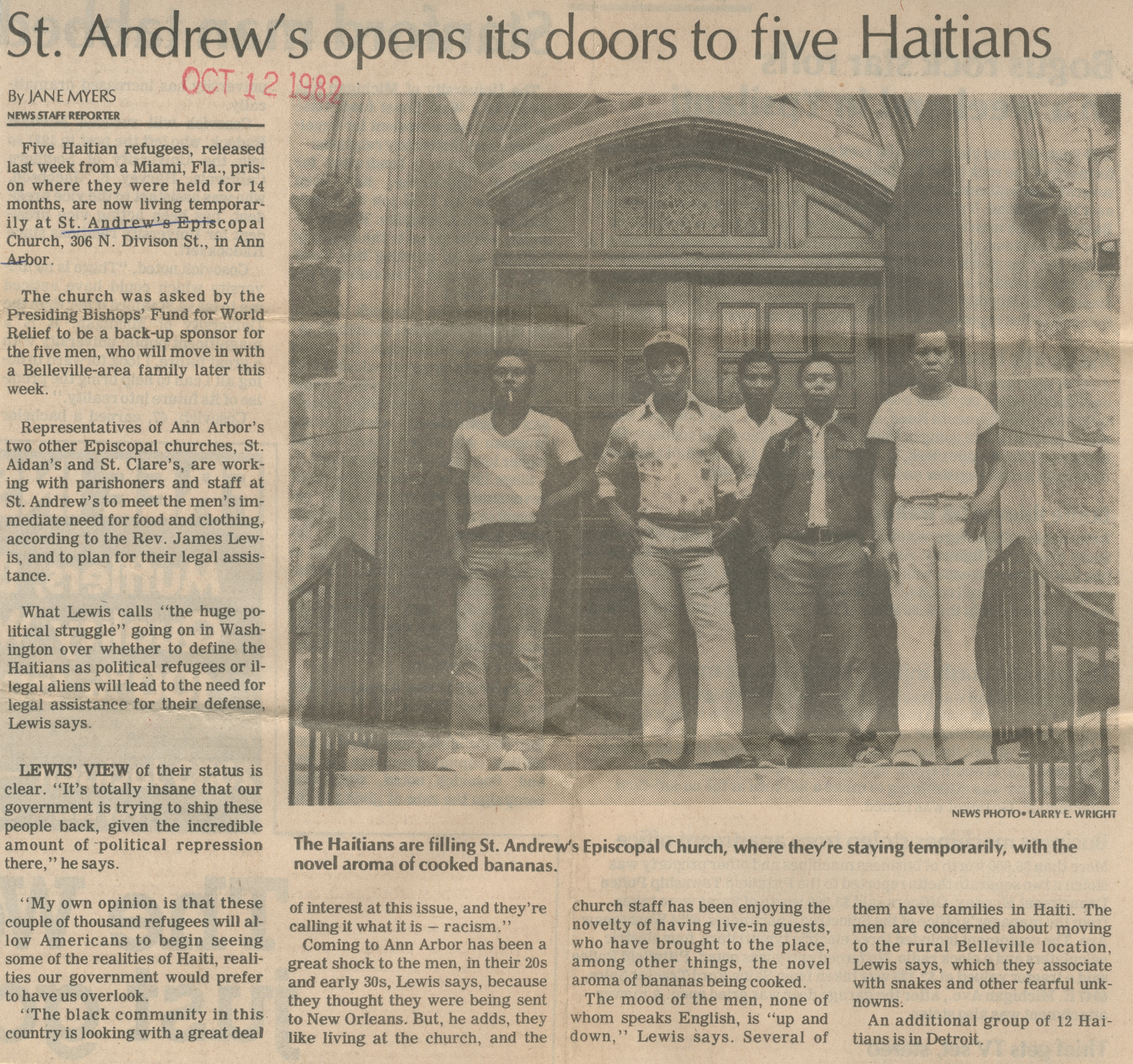 St. Andrew's Opens Its Doors to Five Haitians image