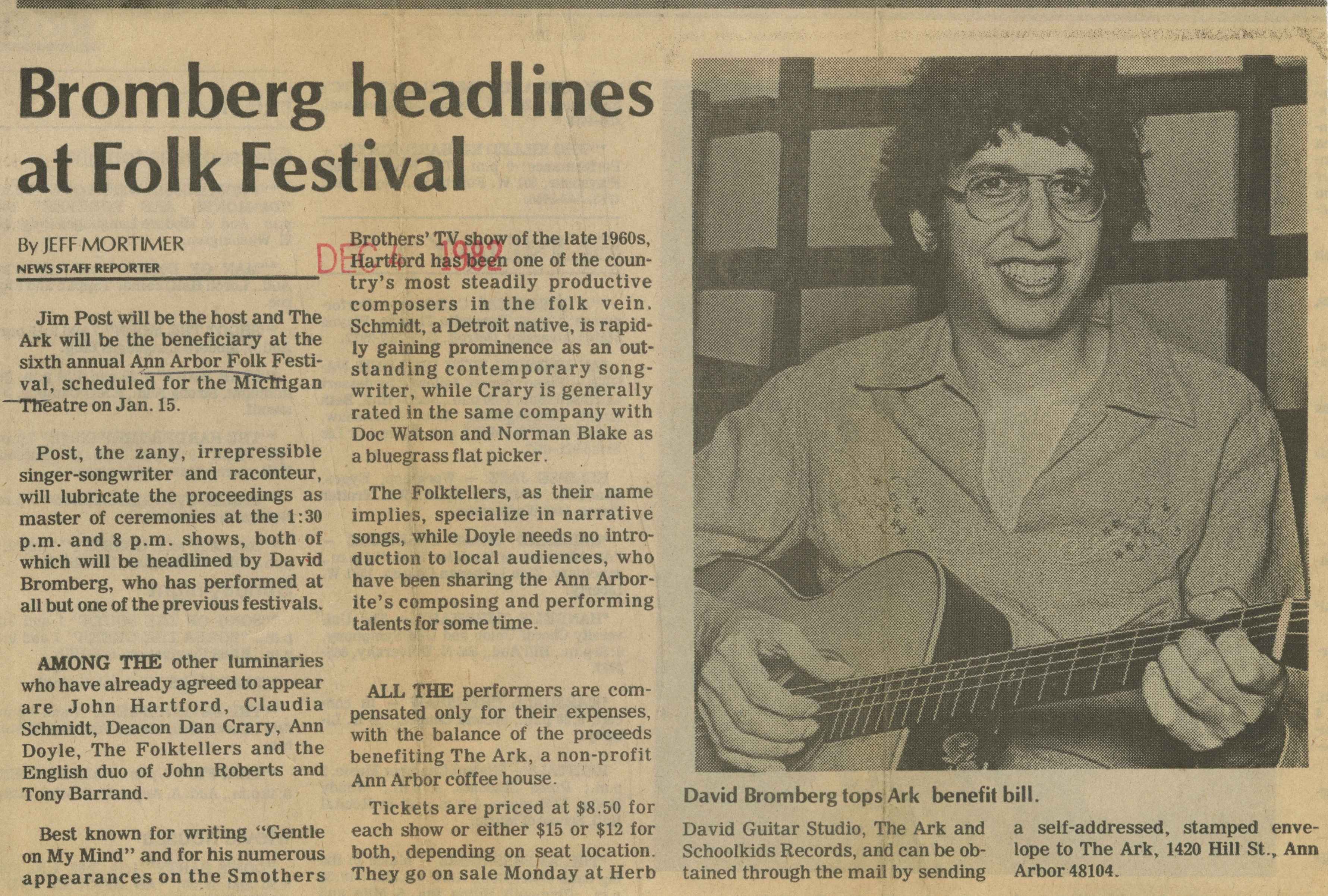 Bromberg headlines at Folk Festival image