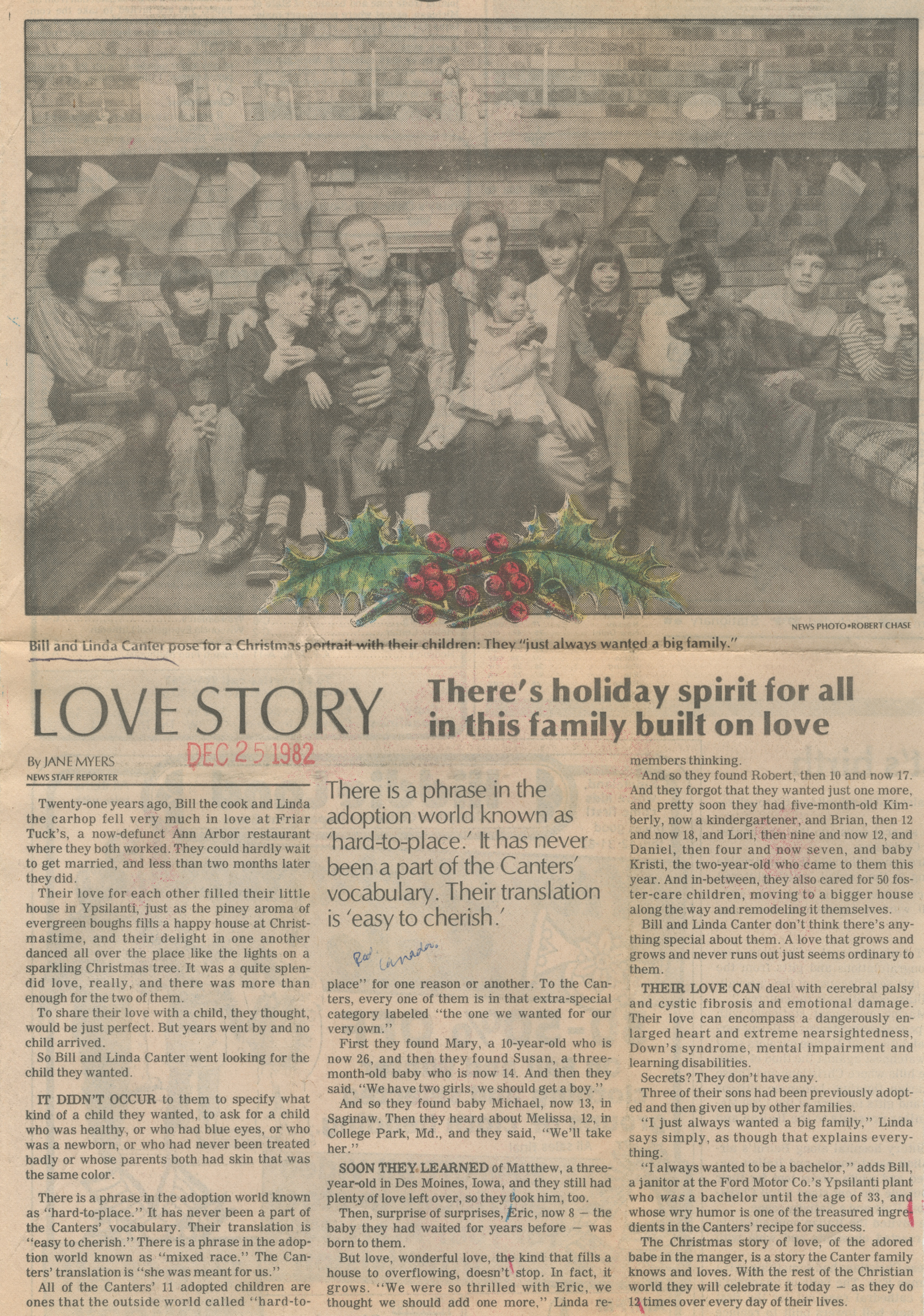 Love Story - There's Holiday Spirit For All In This Family Built On Love image