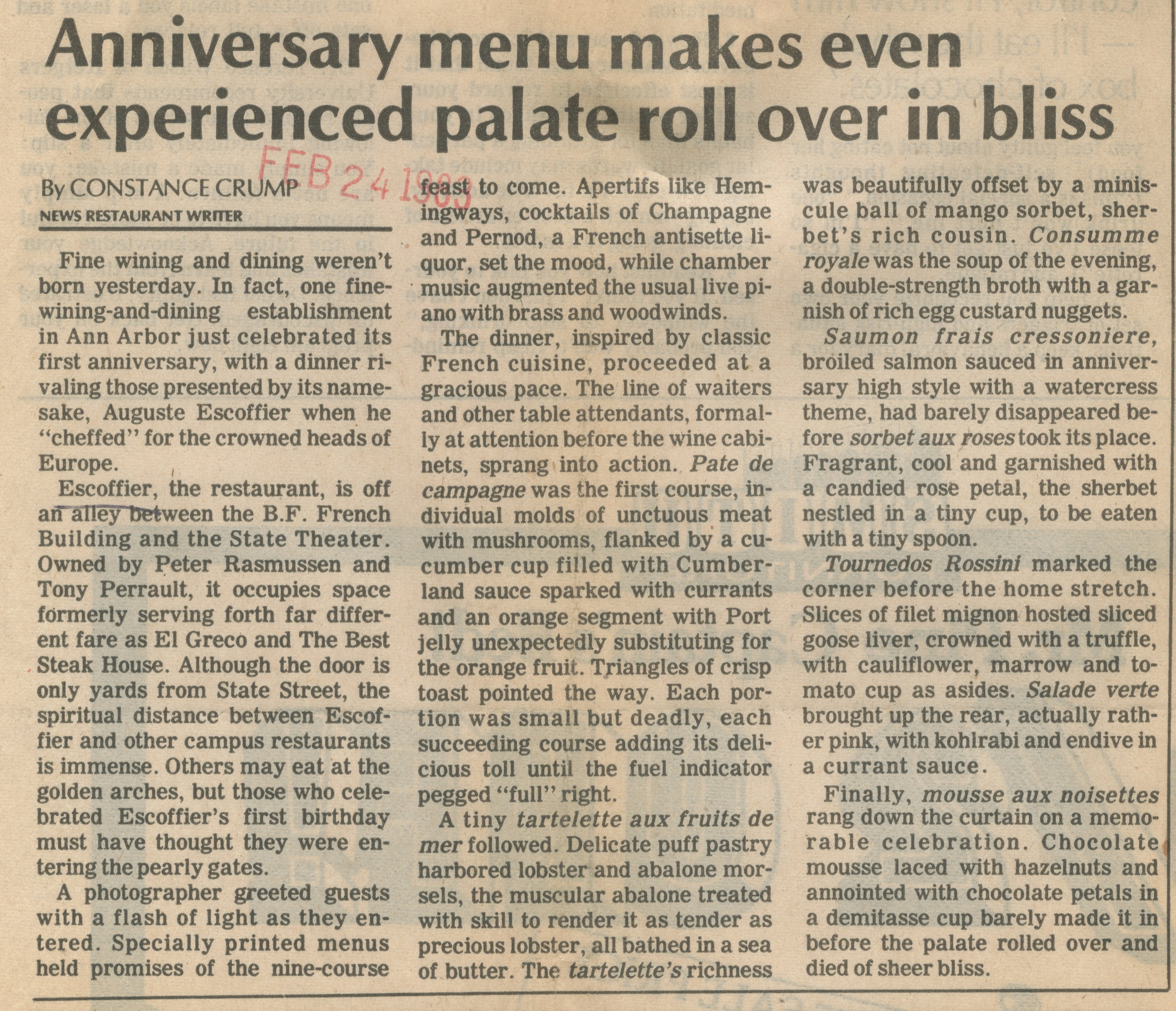Anniversary Menu Makes Even Experienced Palate Roll Over In Bliss image