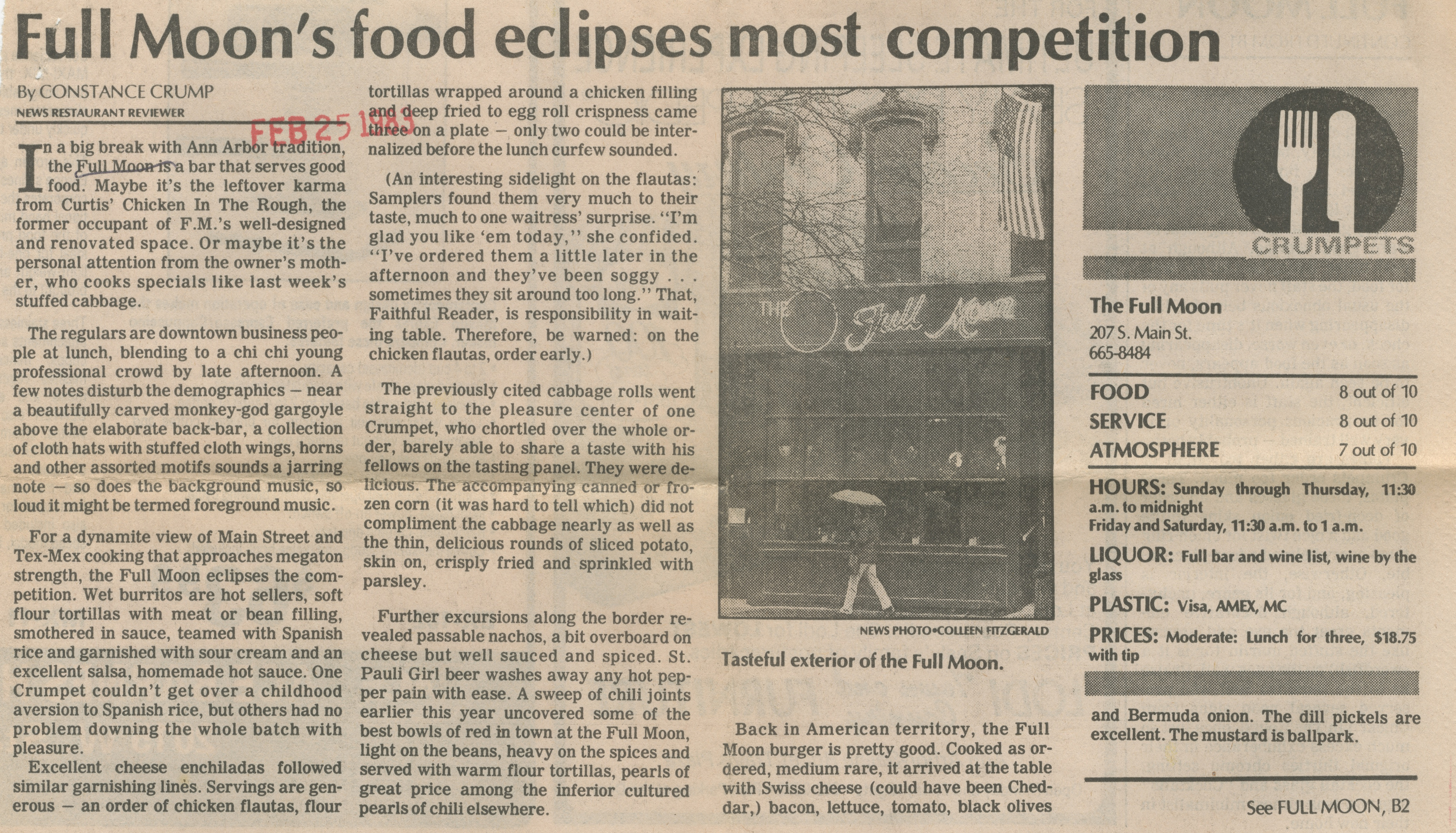Full Moon's Food Eclipses Most Competition image