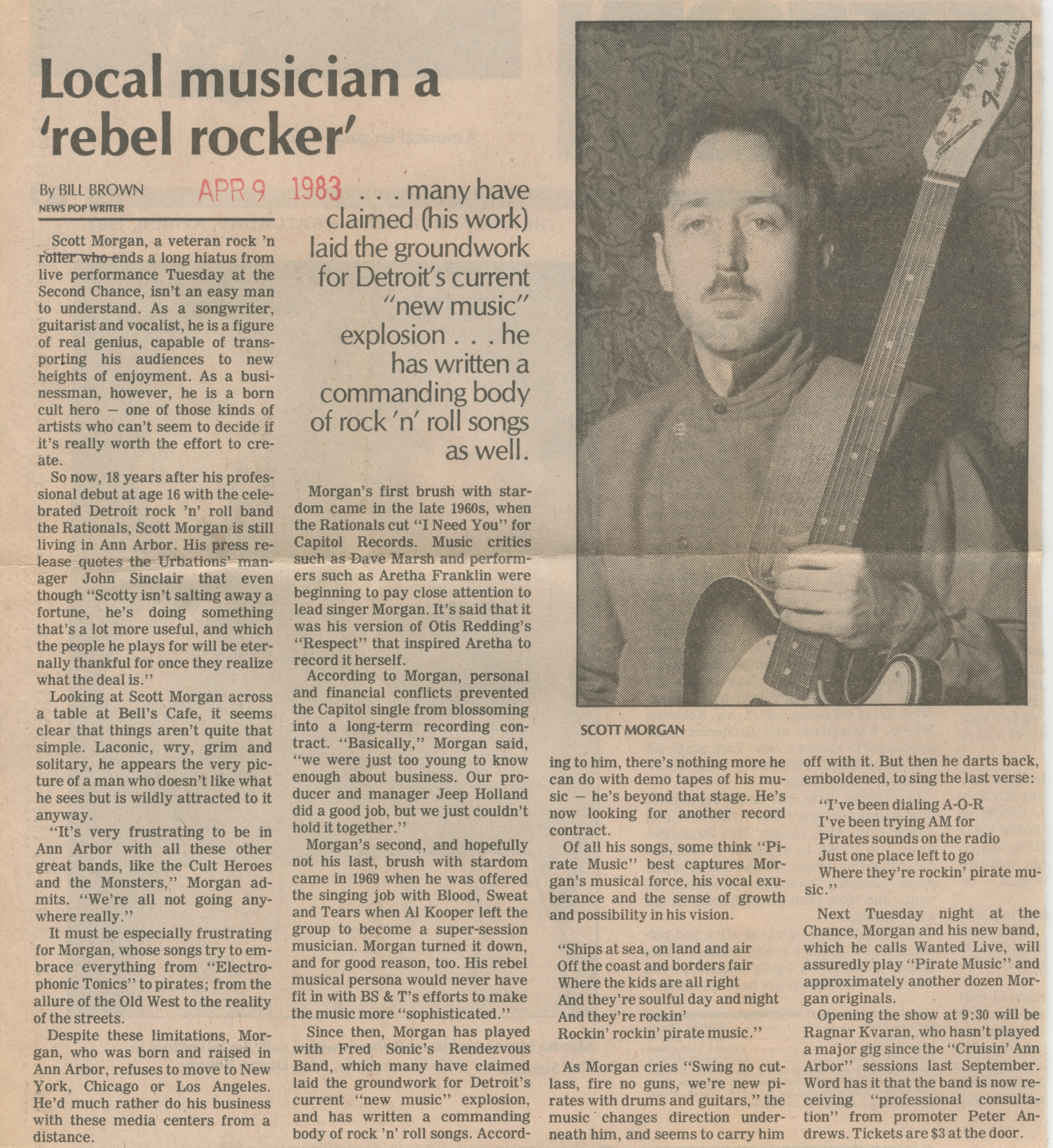 Local Musician A 'Rebel Rocker' image