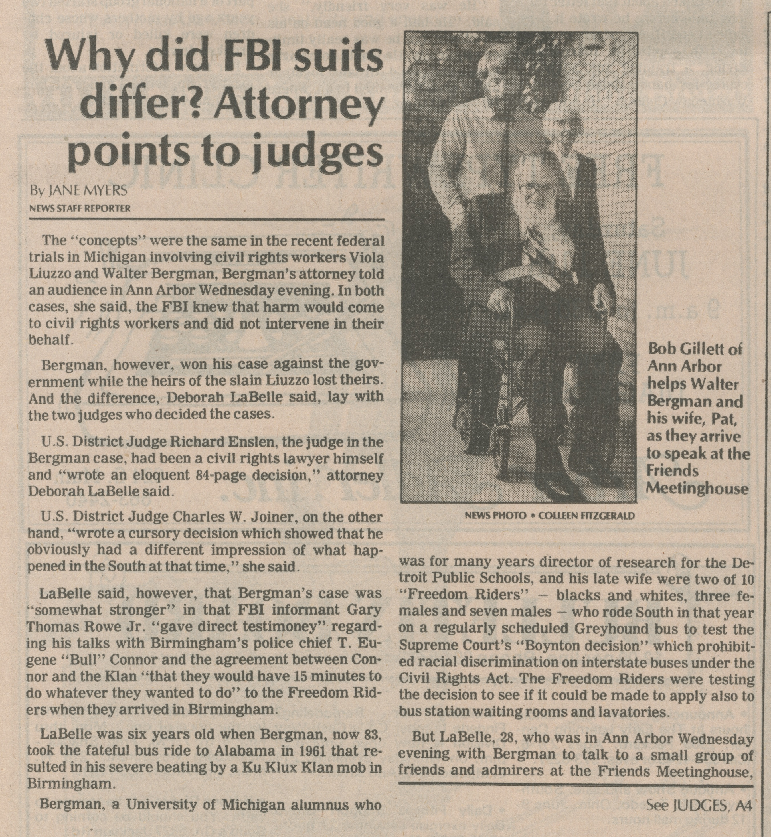 Why Did FBI Suits Differ?  Attorney Points To Judges image