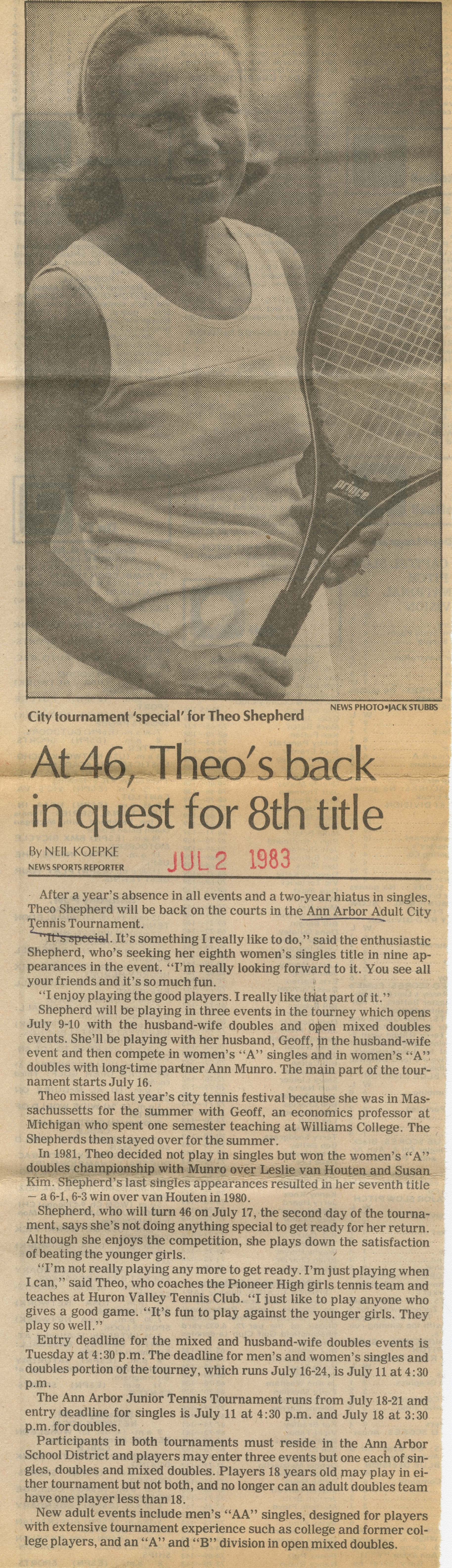 At 46, Theo's back in quest for 8th title image