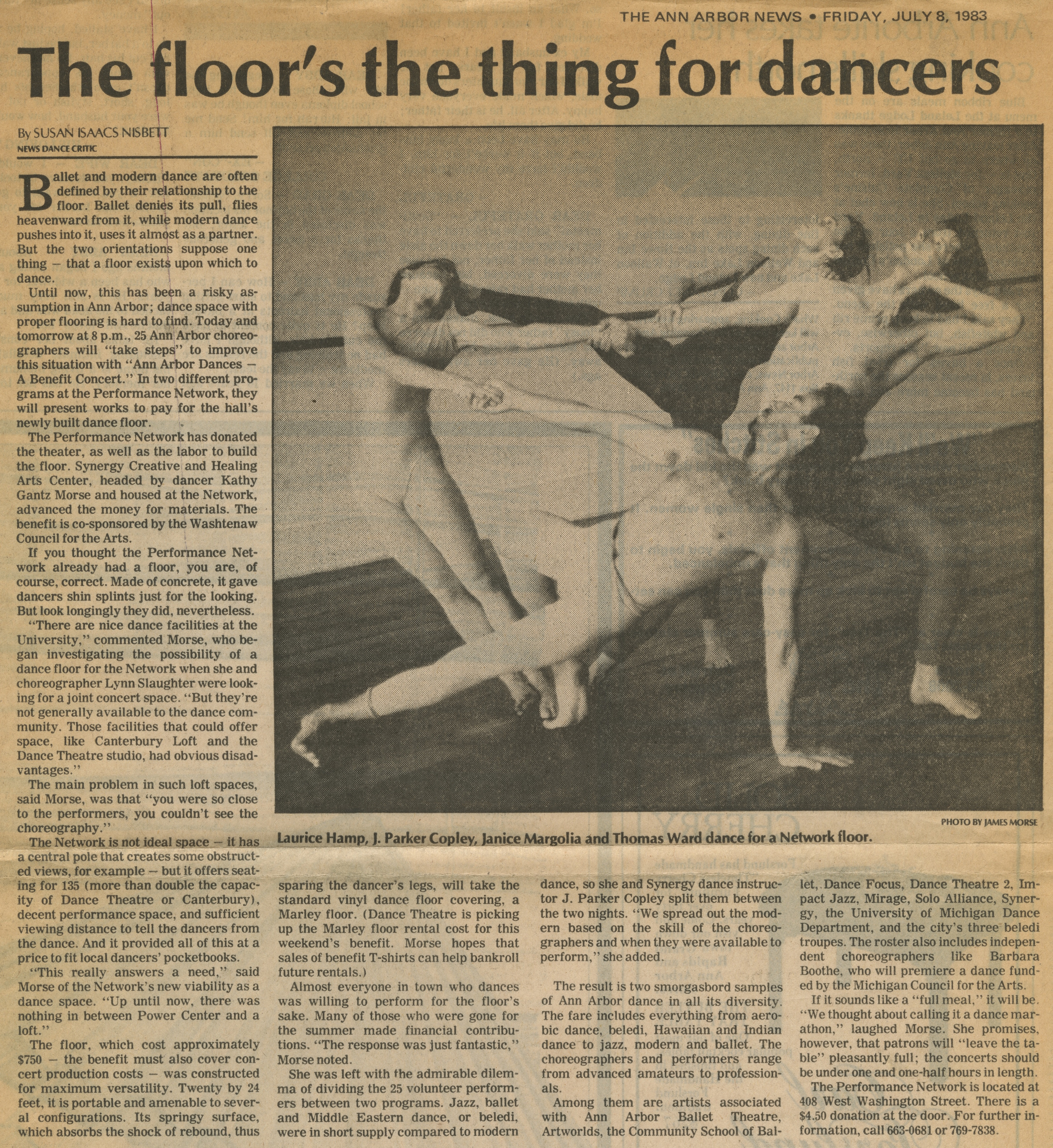 The floor's the thing for dancers image