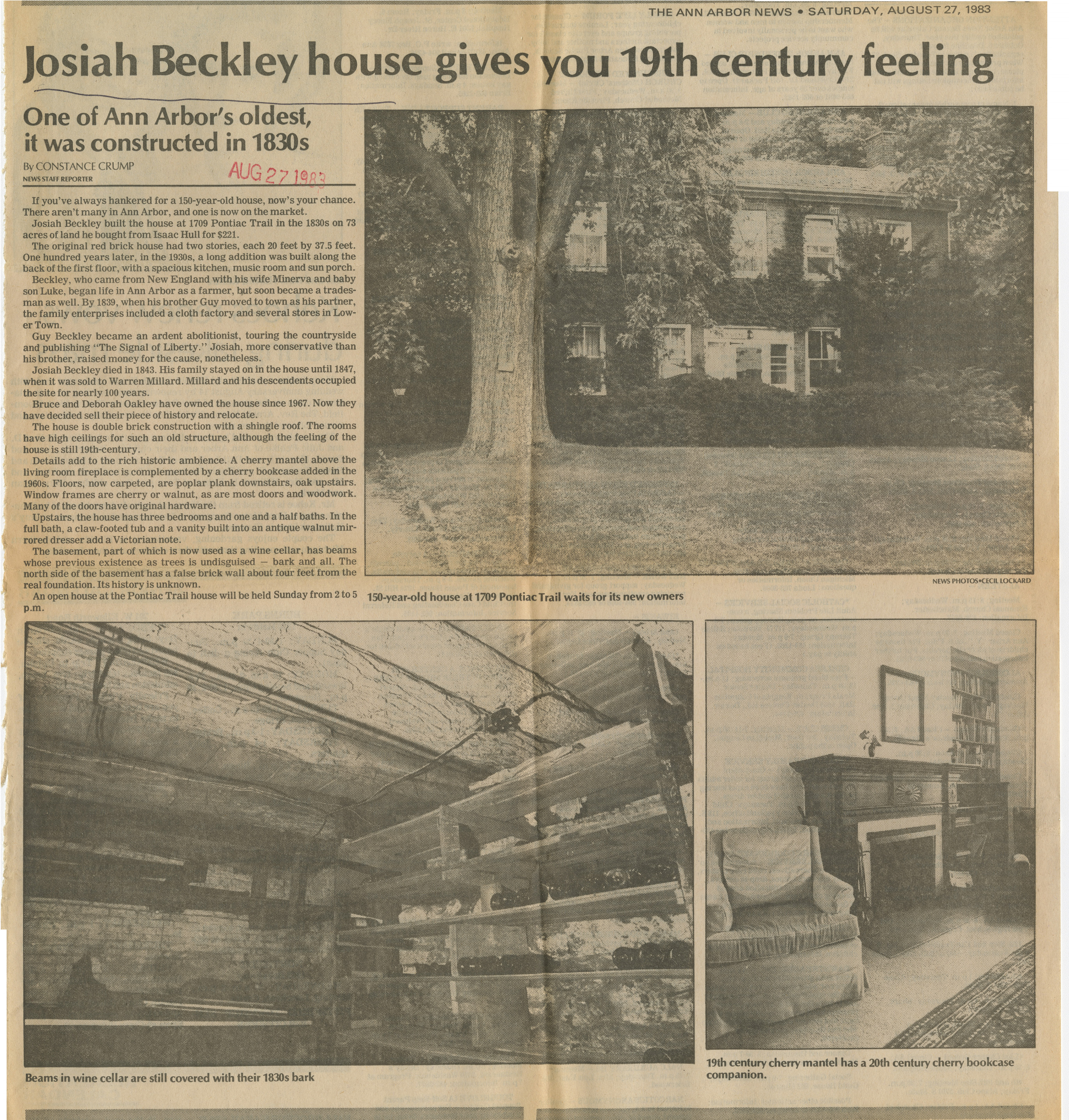 Josiah Beckley house gives you 19th century feeling image