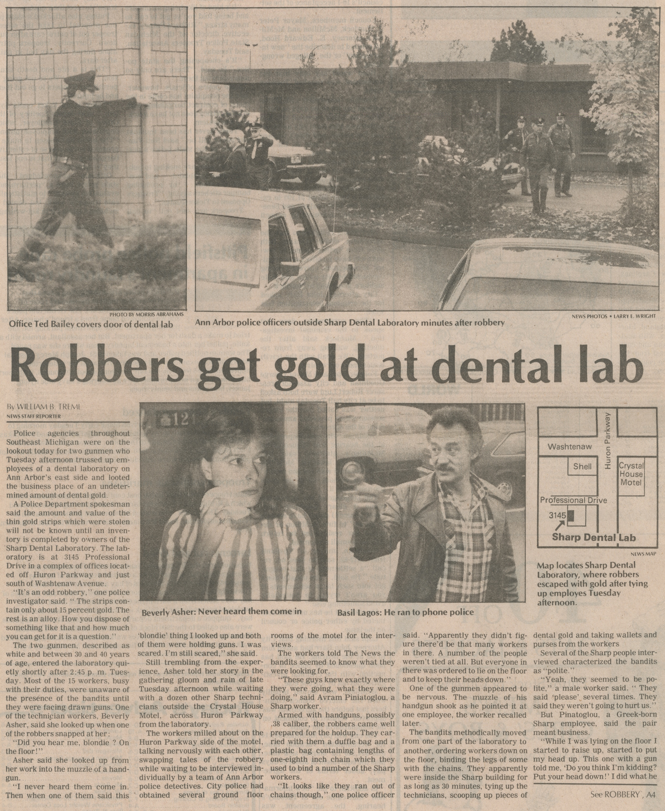 Robbers Get Gold At Dental Lab image