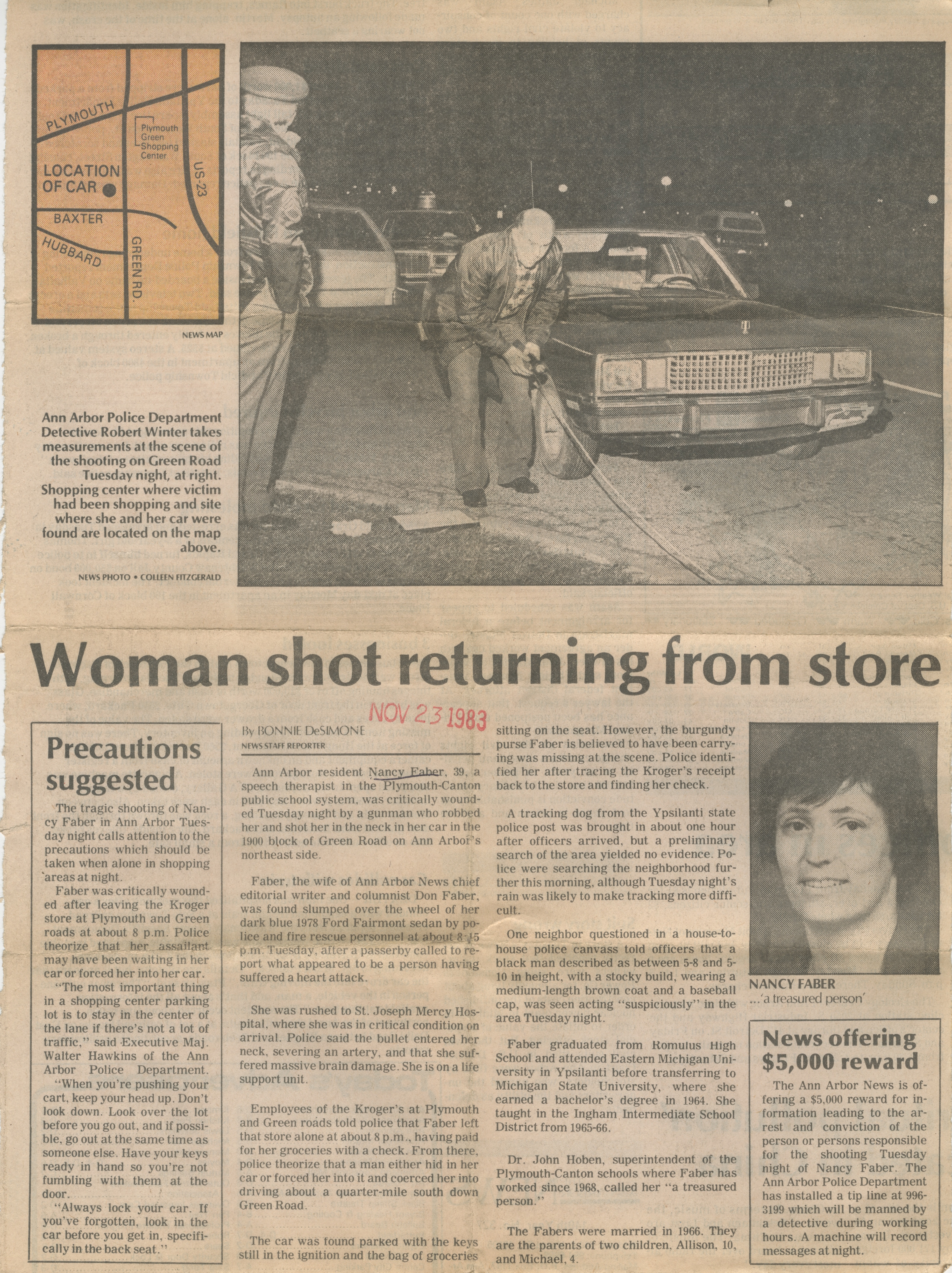 Woman Shot Returning From Store image