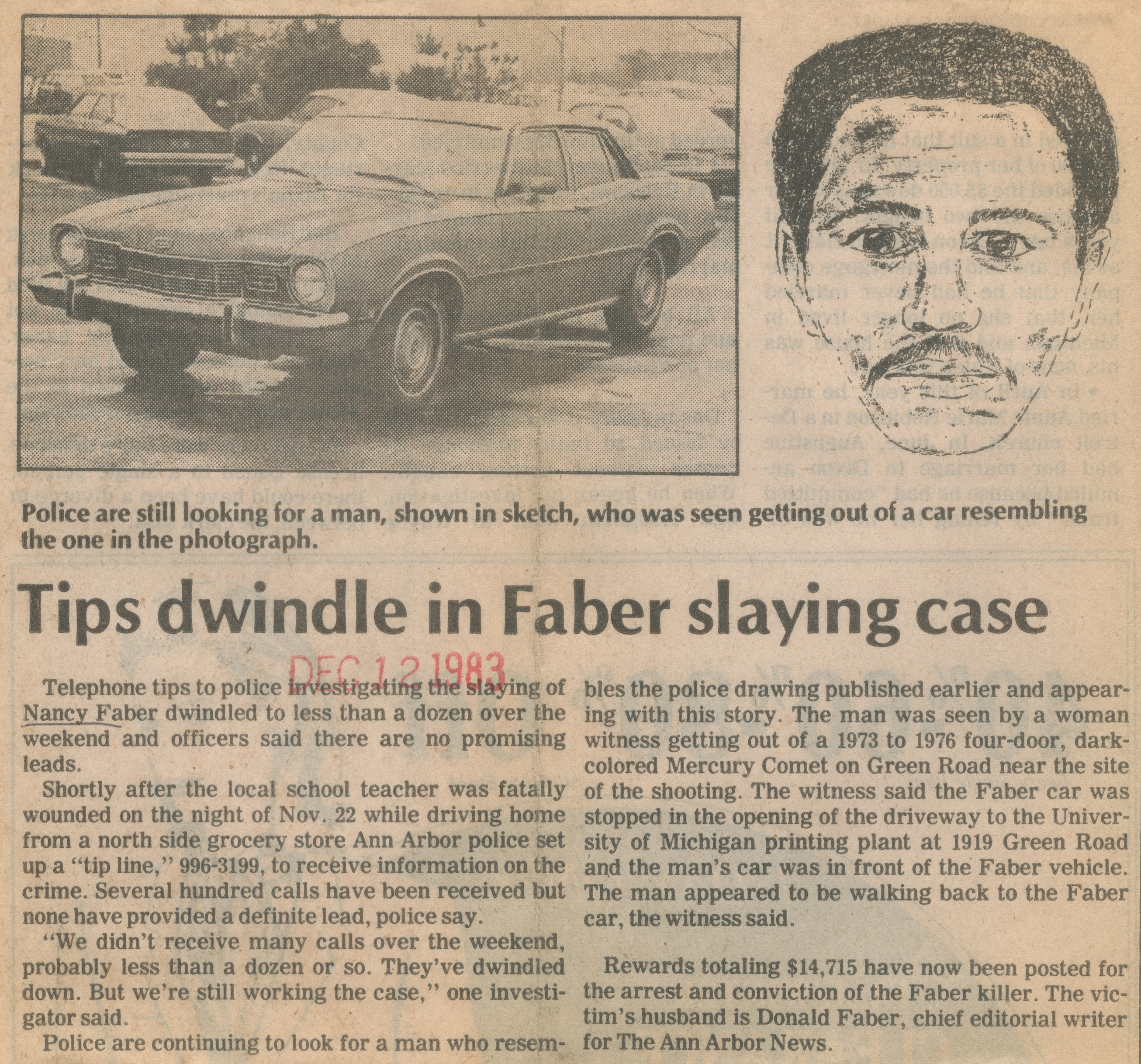 Tips Dwindle In Faber Slaying Case image