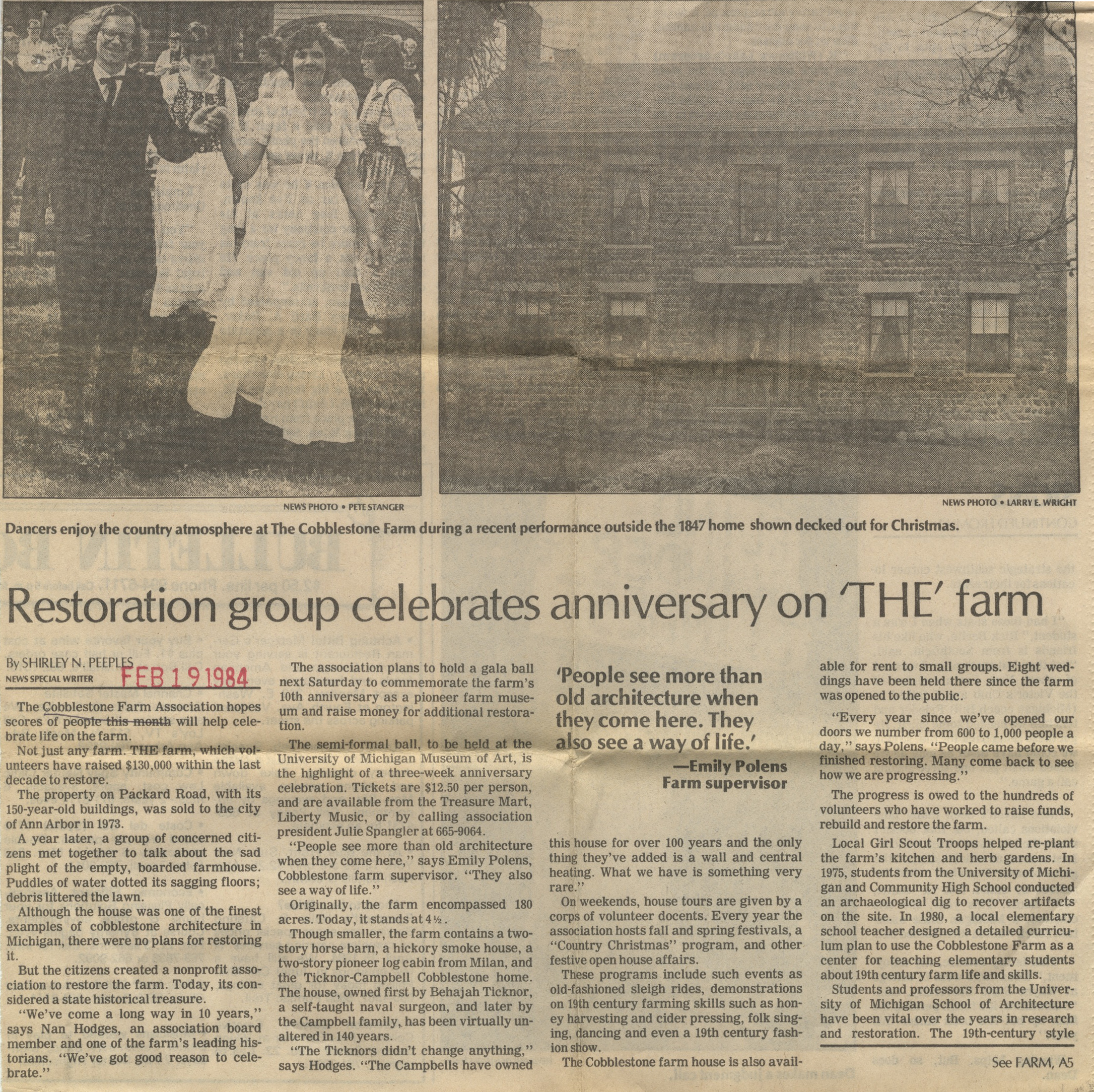 Restoration Group Celebrates Anniversary On 'THE' Farm image