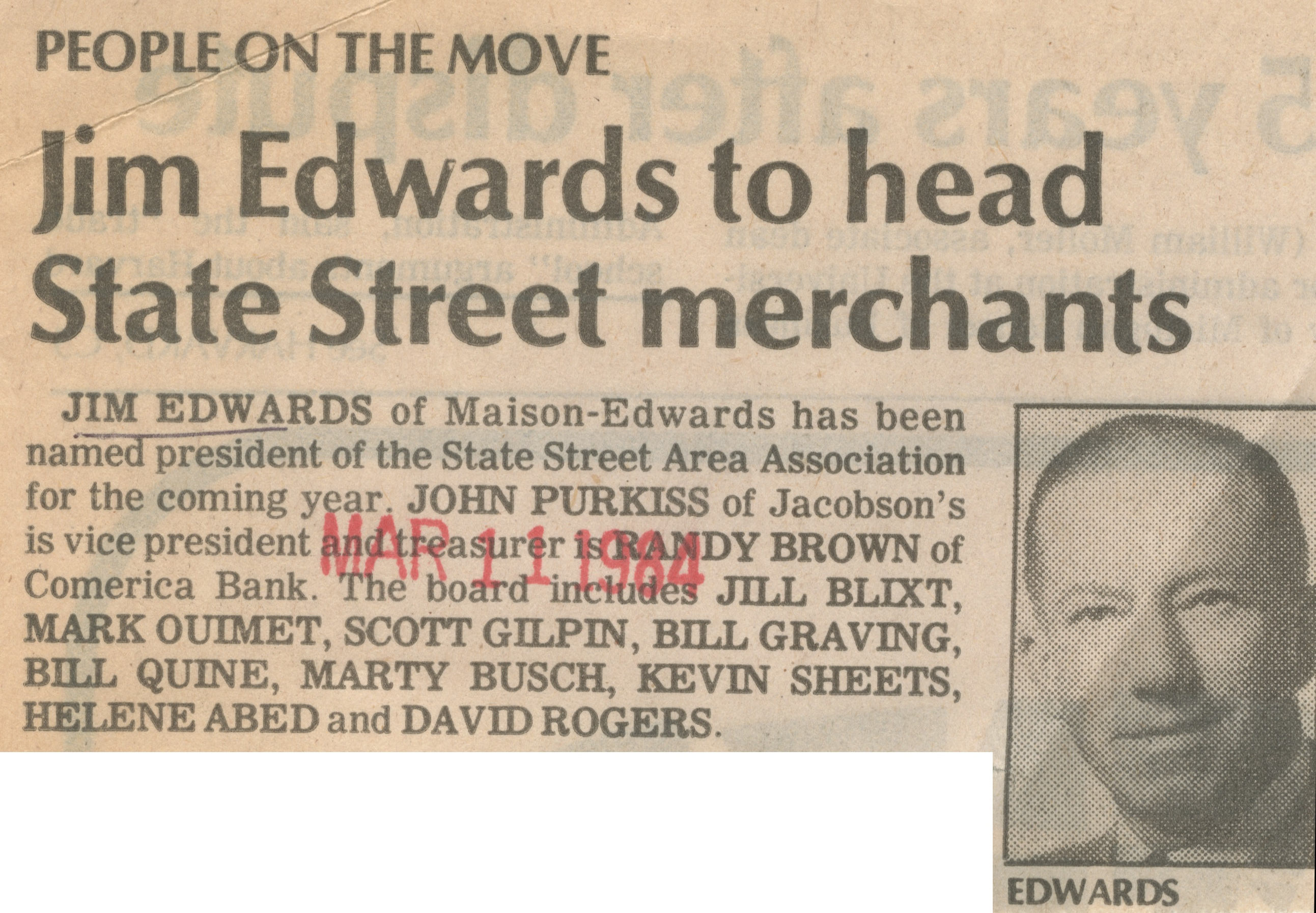 Jim Edwards to head State Street merchants image