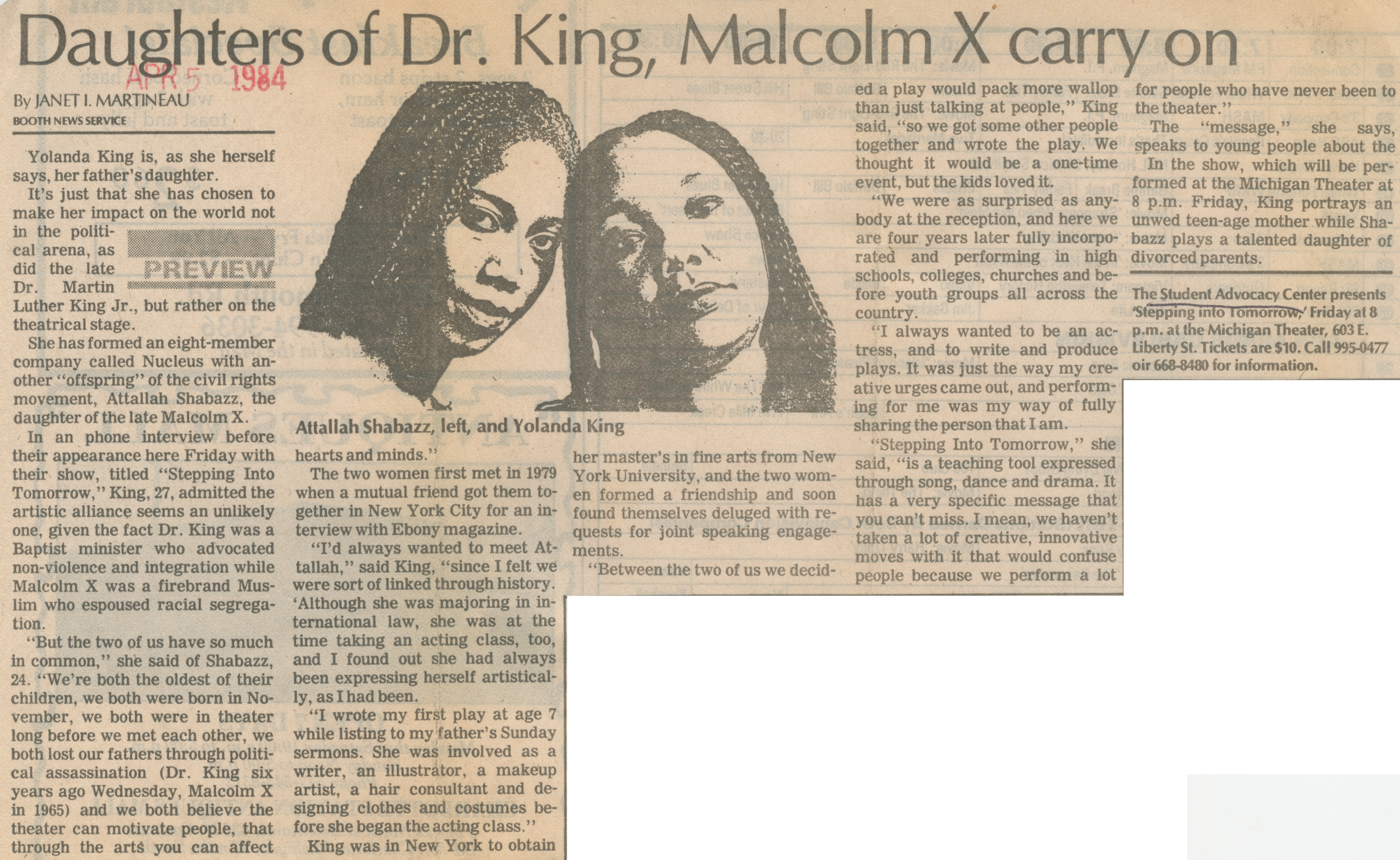 Daughters of Dr. King, Malcolm X Carry On image