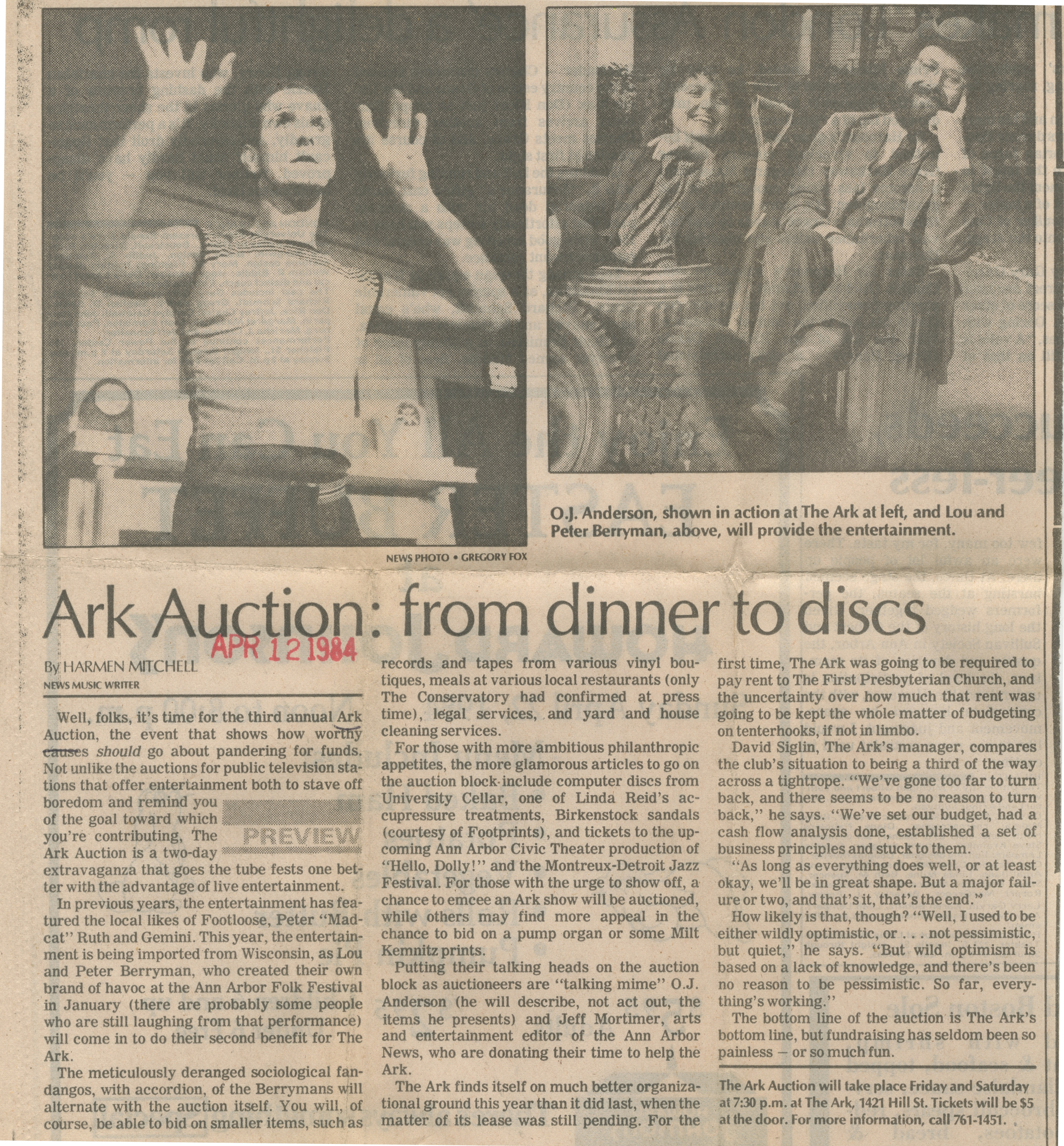 Ark Auction: From Dinner To Discs image