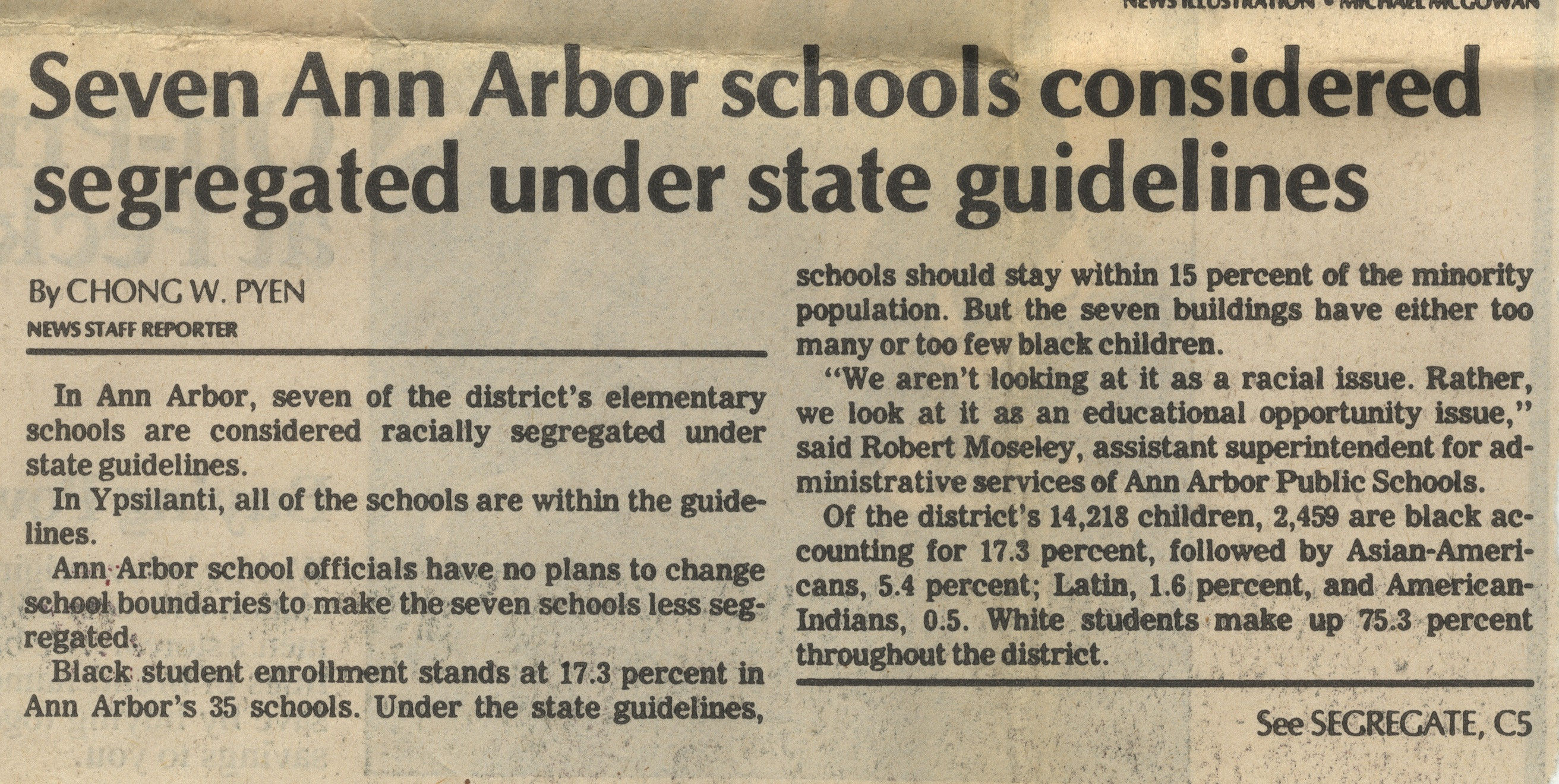 Seven Ann Arbor Schools Considered Segregated Under State Guidelines image