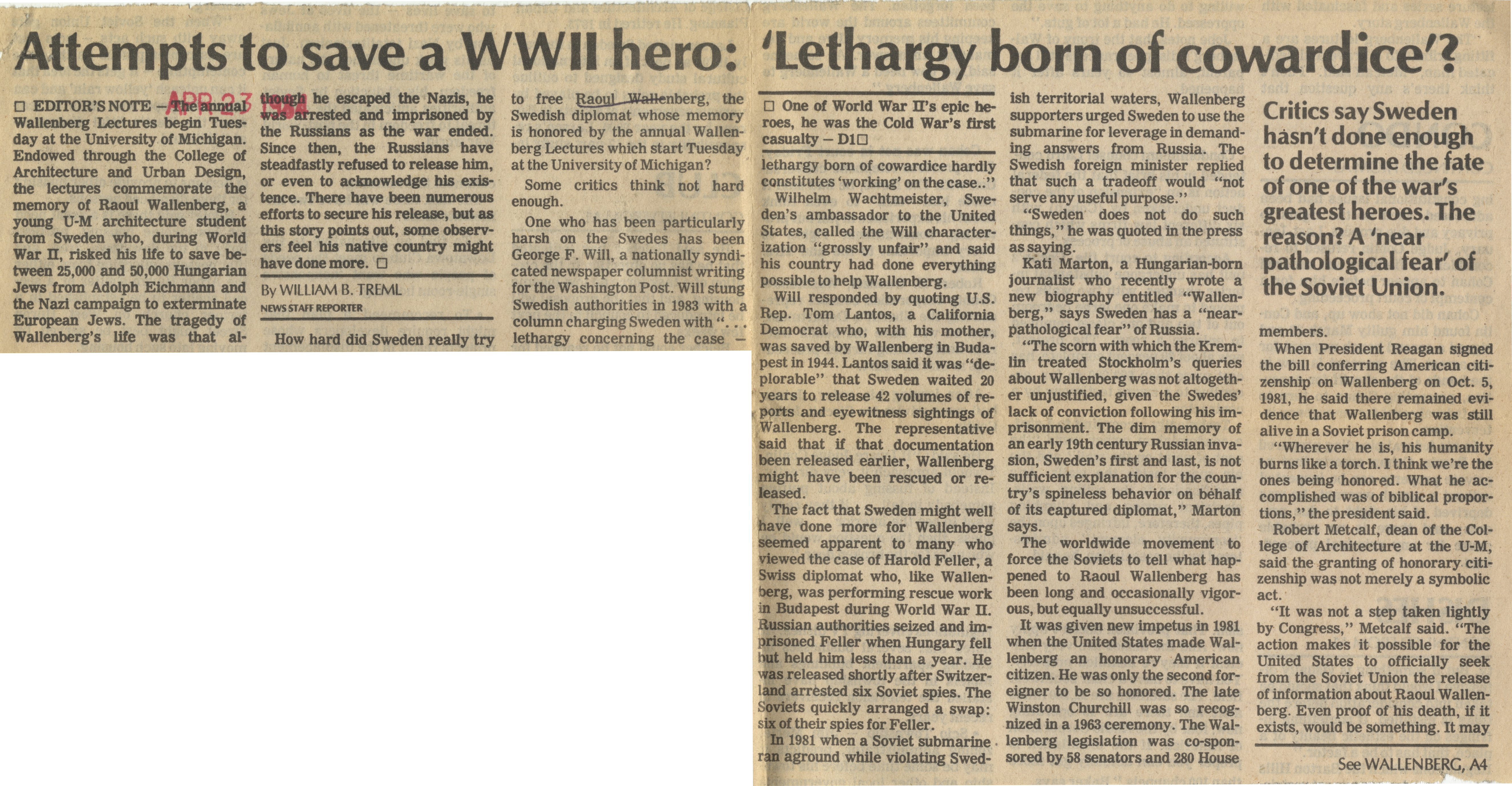 Attempts To Save A WWII Hero: 'Lethargy Born Of Cowardice' ? image