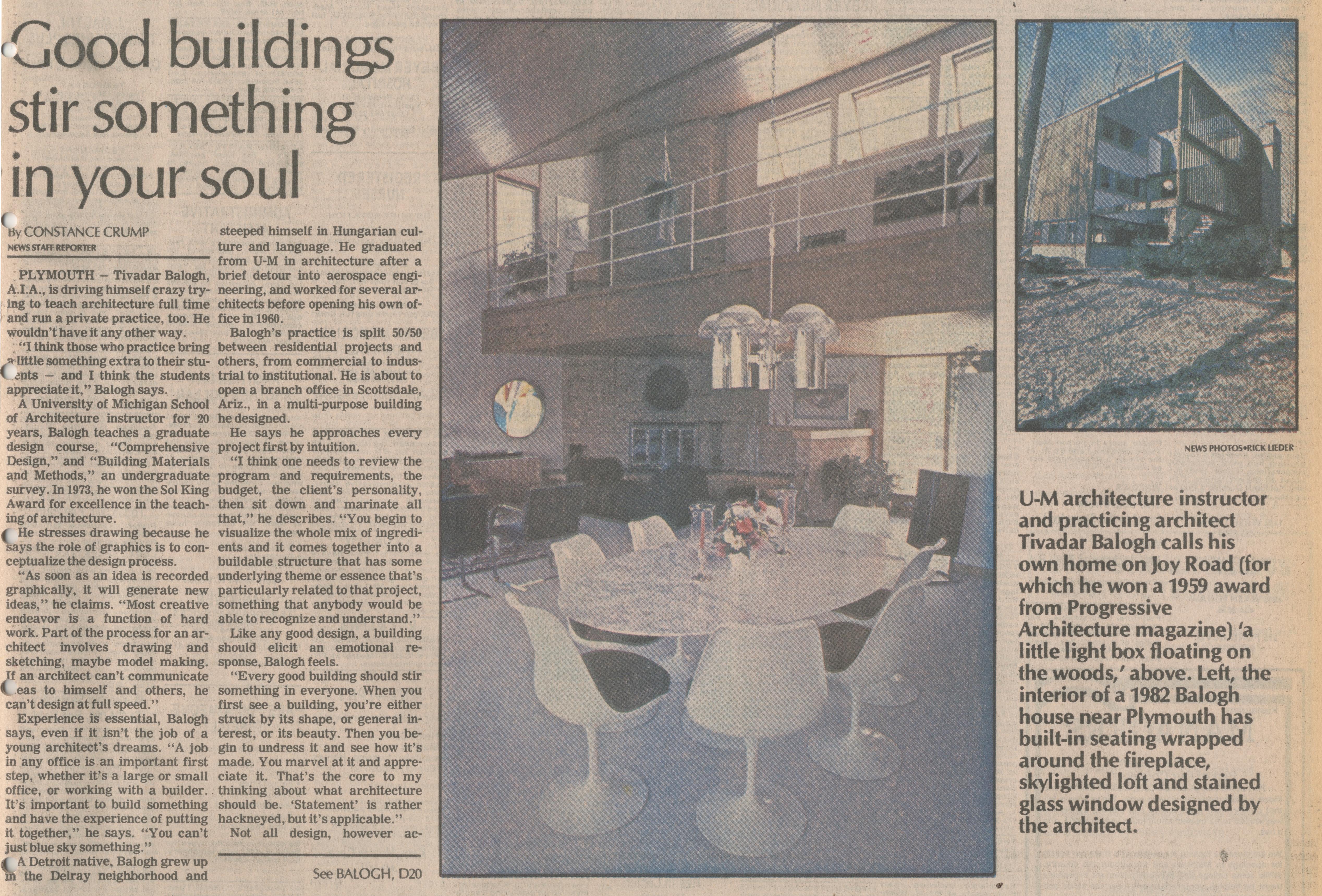 Good Buildings Stir Something In Your Soul   Ann Arbor